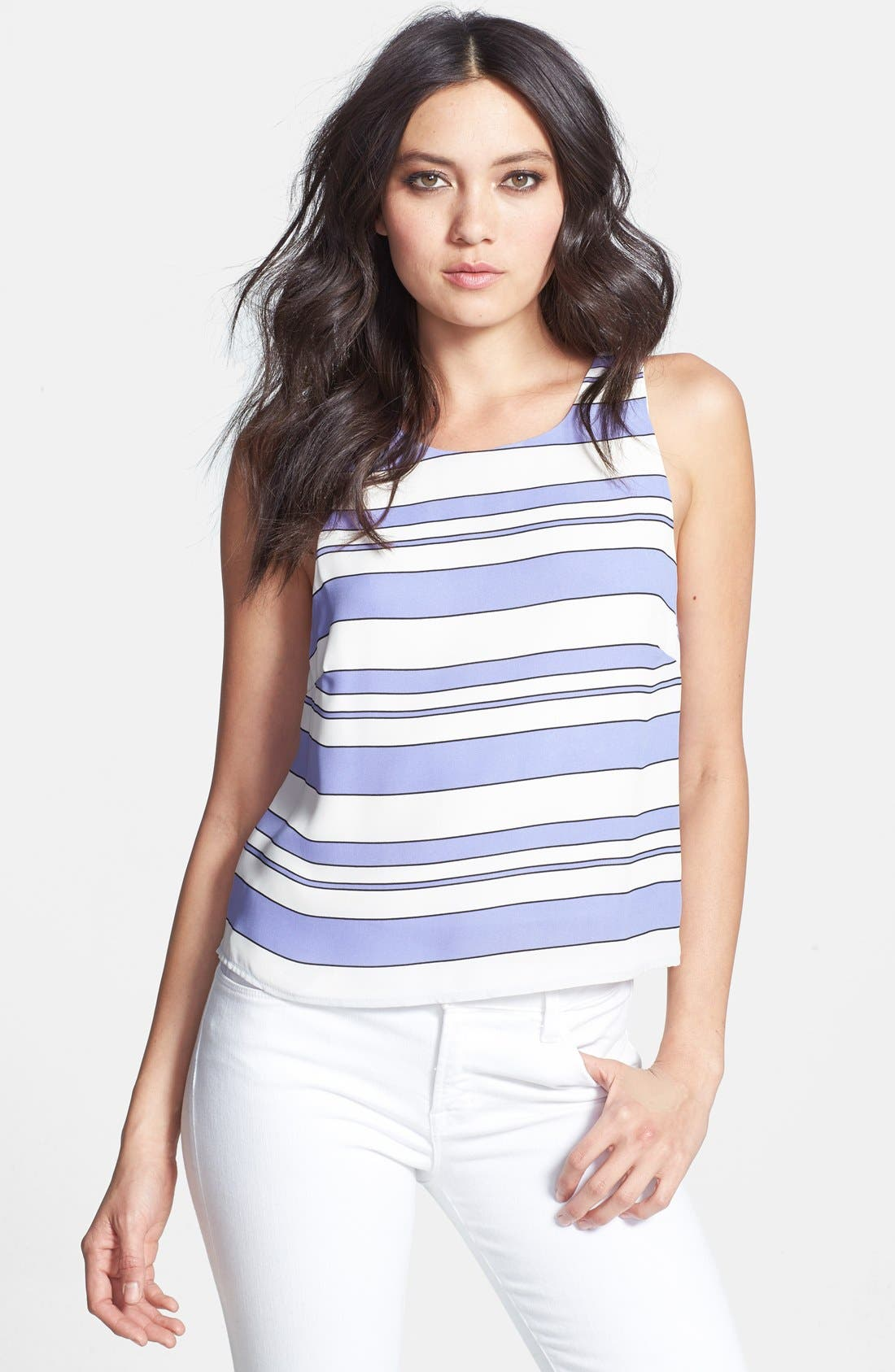 Alternate Image 1 Selected - Rules of Etiquette Stripe Woven Tank