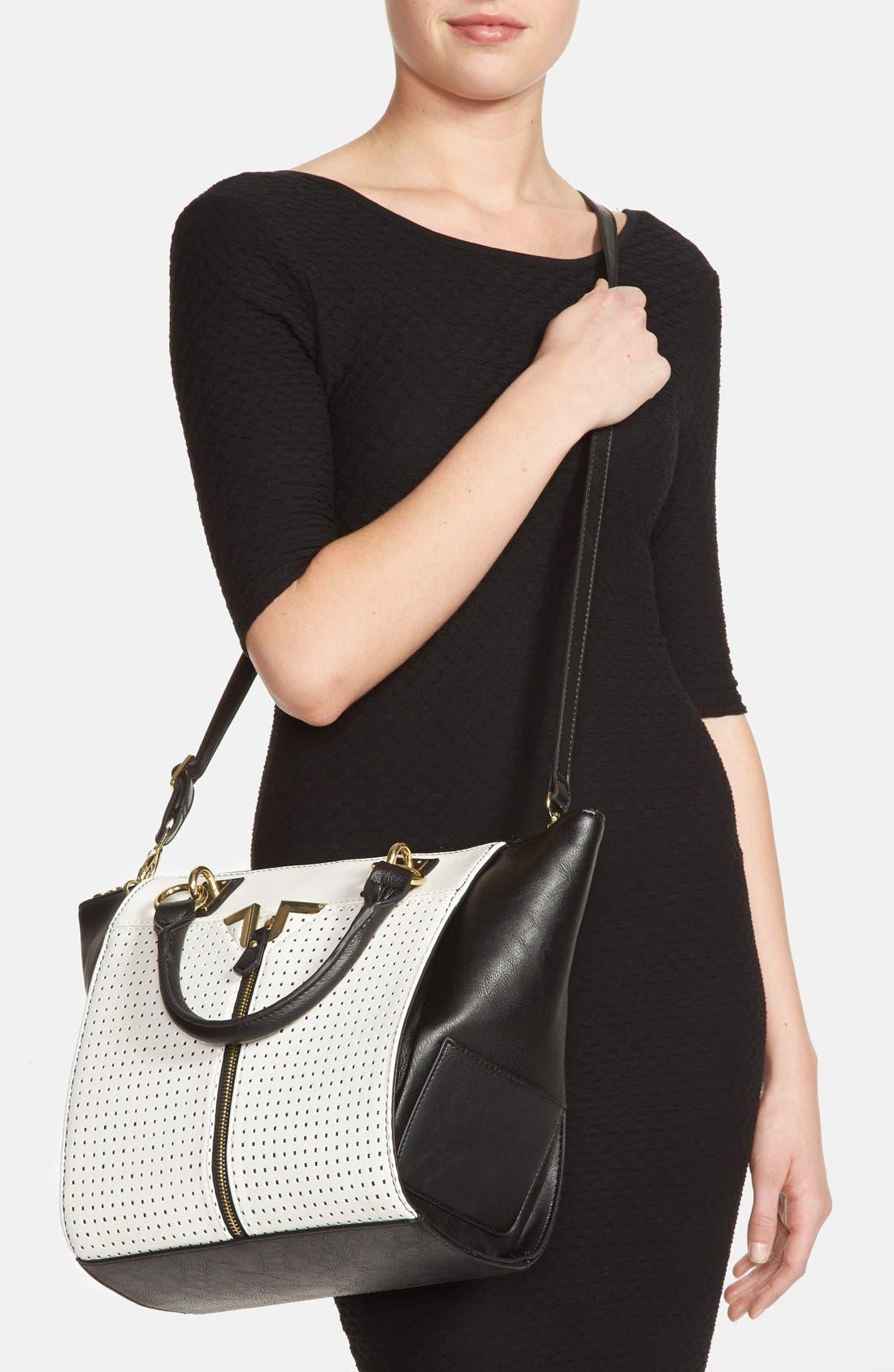 Alternate Image 2  - Danielle Nicole 'Alexa' Perforated Faux Leather Satchel