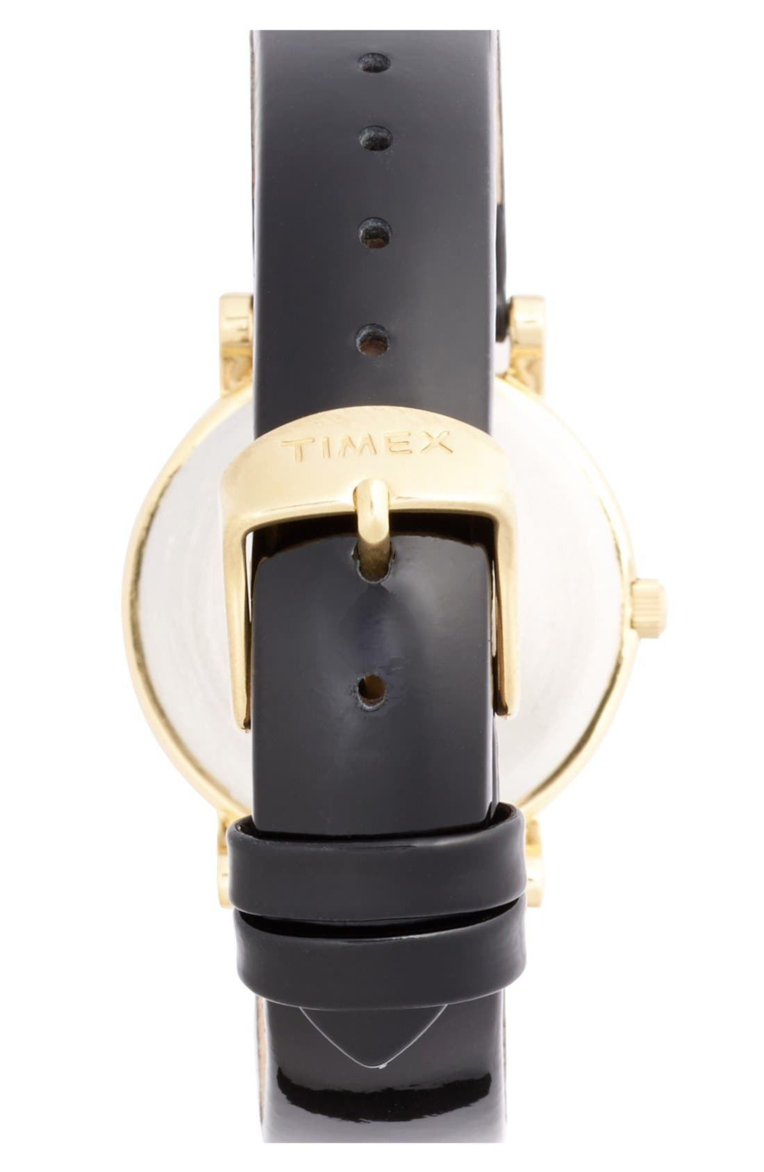Alternate Image 2  - Timex® Round Patent Leather Strap Watch, 33mm