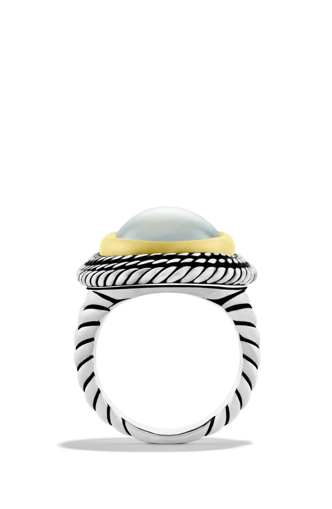 Alternate Image 2  - David Yurman 'Cable Coil' Ring with Moon Quartz and Gold