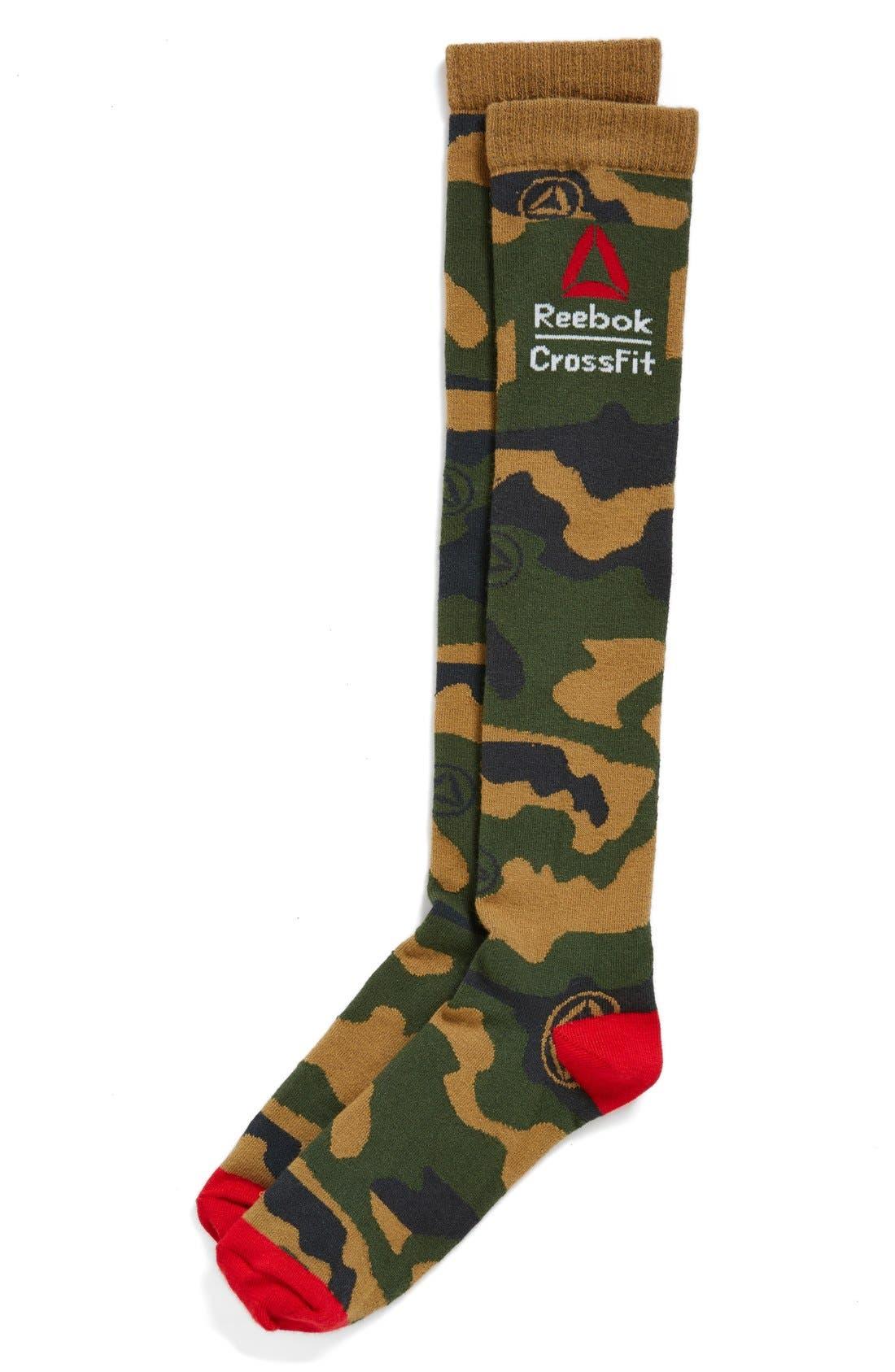 Alternate Image 1 Selected - Reebok CrossFit Camouflage Knee High Socks