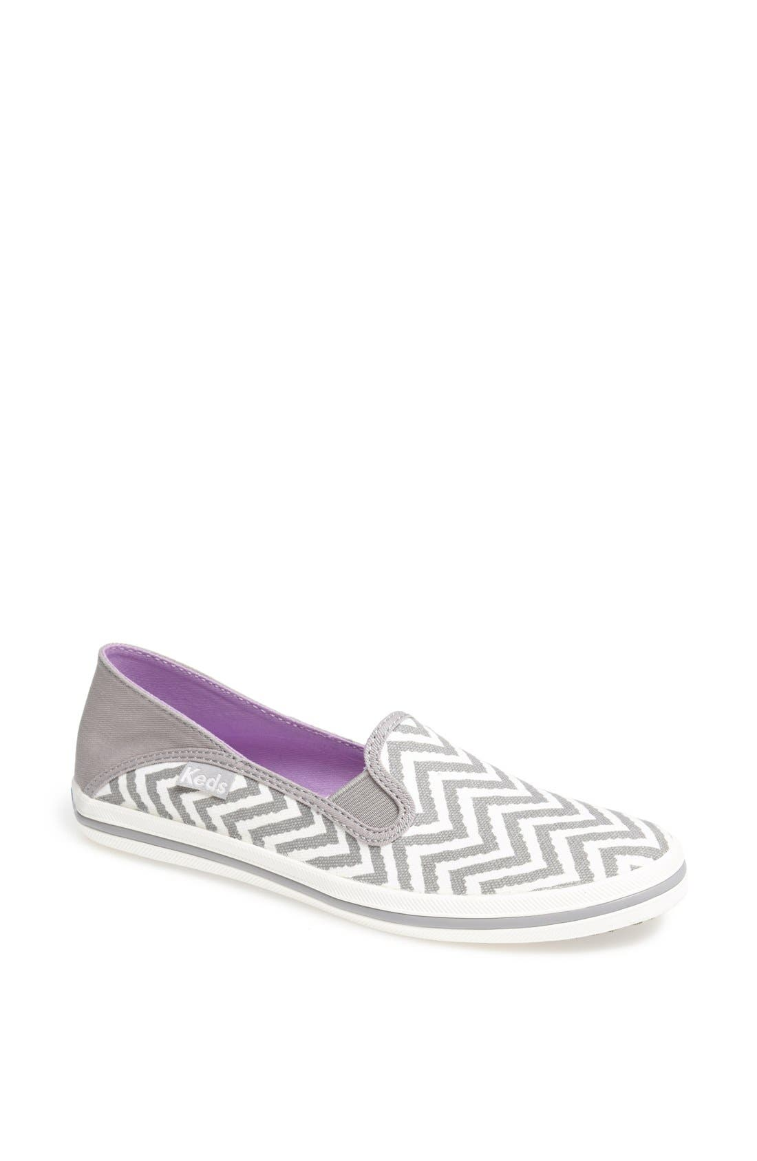 Alternate Image 1 Selected - Keds® 'Crash Back - Zigzag' Canvas Slip-On Sneaker (Women)