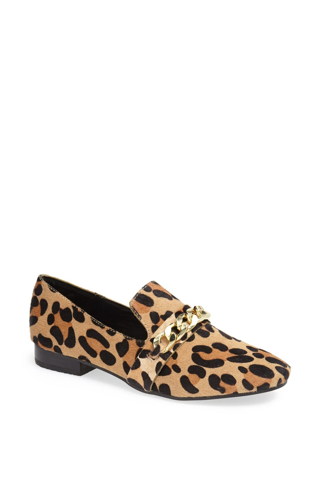 Alternate Image 1 Selected - Steve Madden 'Chaingng' Calf Hair Flat