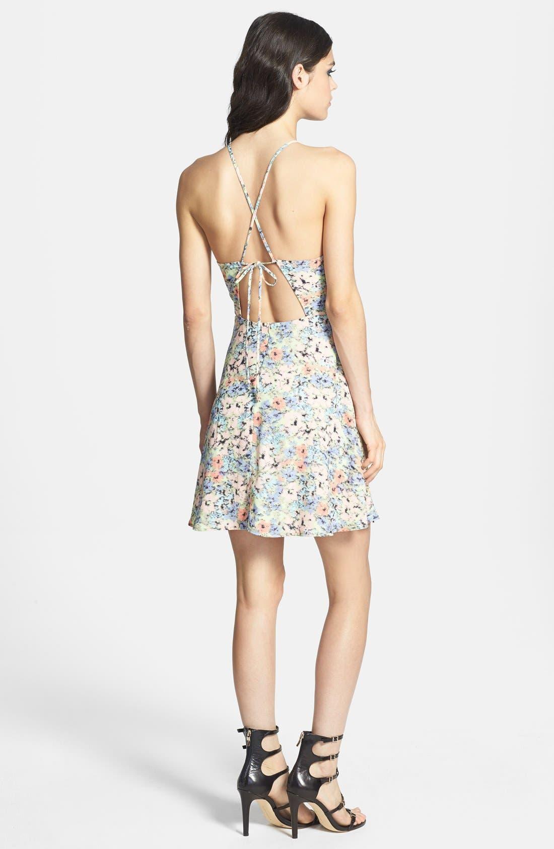 Alternate Image 2  - ASTR Tie Back A-Line Dress