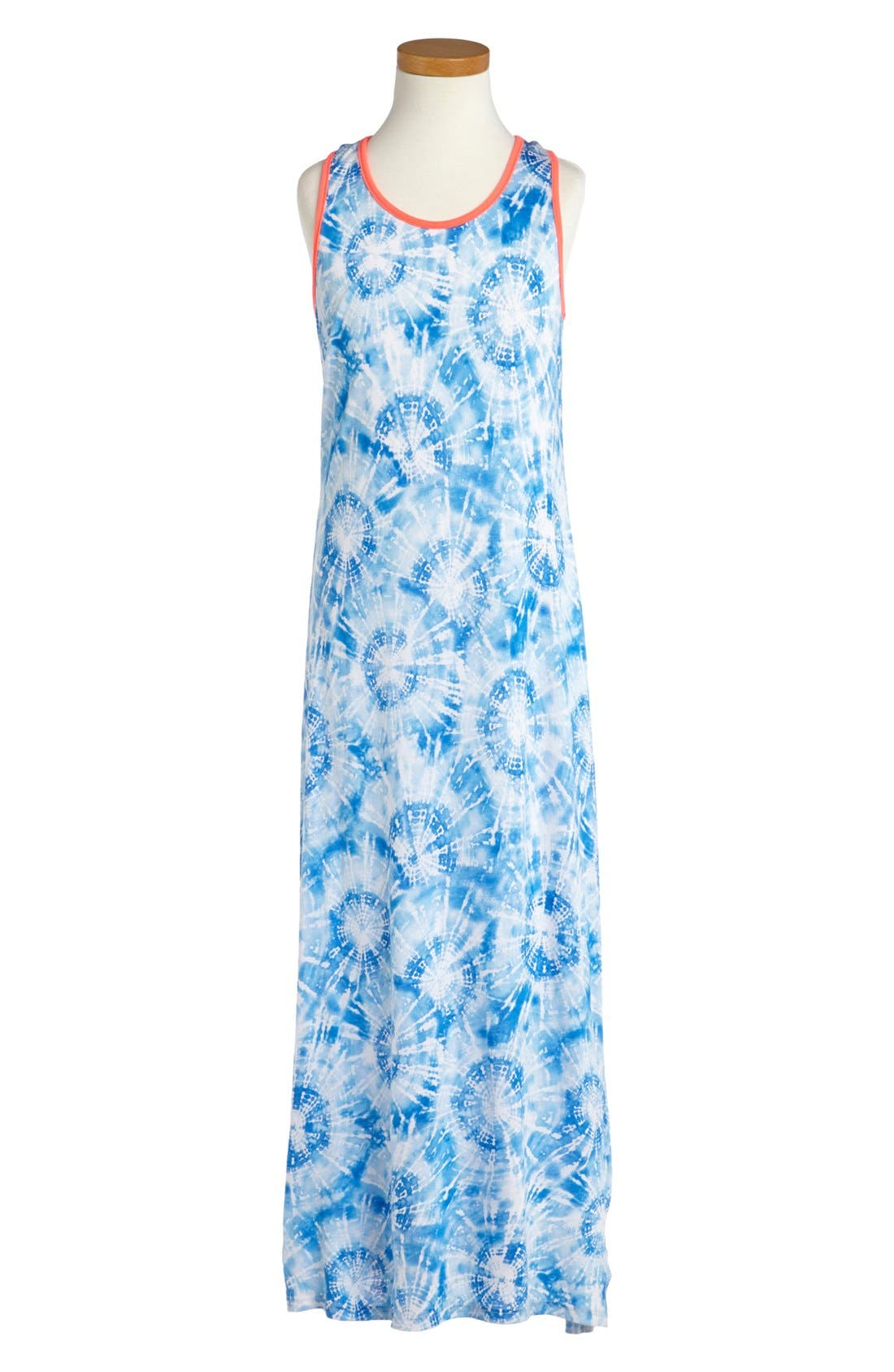 Main Image - Soprano Tie Dye Maxi Dress (Big Girls)