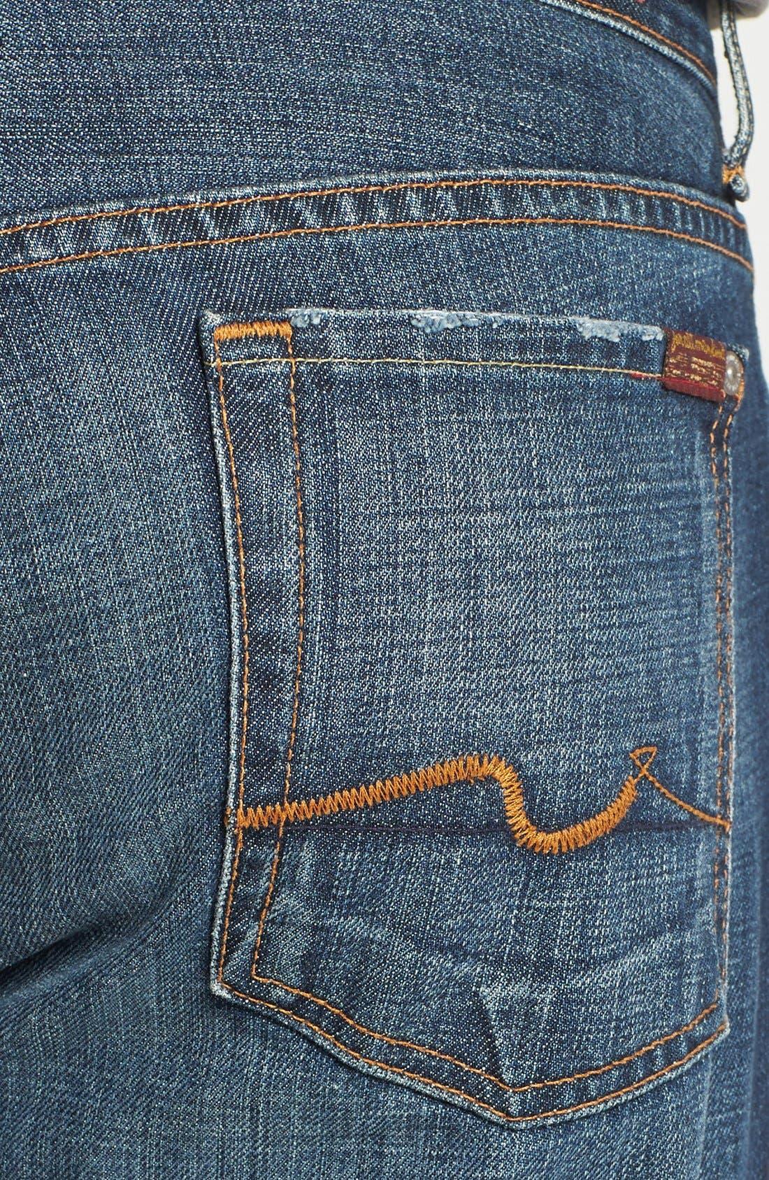 Alternate Image 4  - 7 For All Mankind® 'Standard' Classic Straight Leg Jeans (New York Dark)
