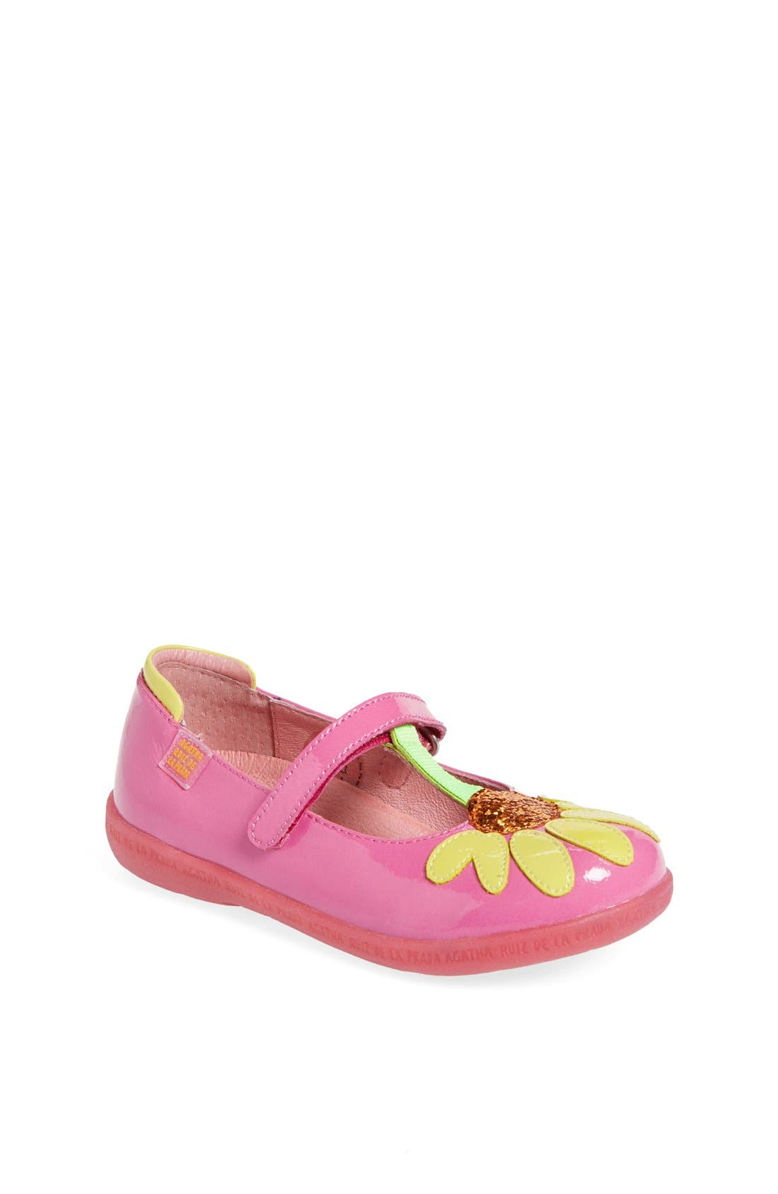 Alternate Image 1 Selected - Agatha Ruiz de la Prada 'Glitter Flower' Mary Jane (Toddler & Little Kid)