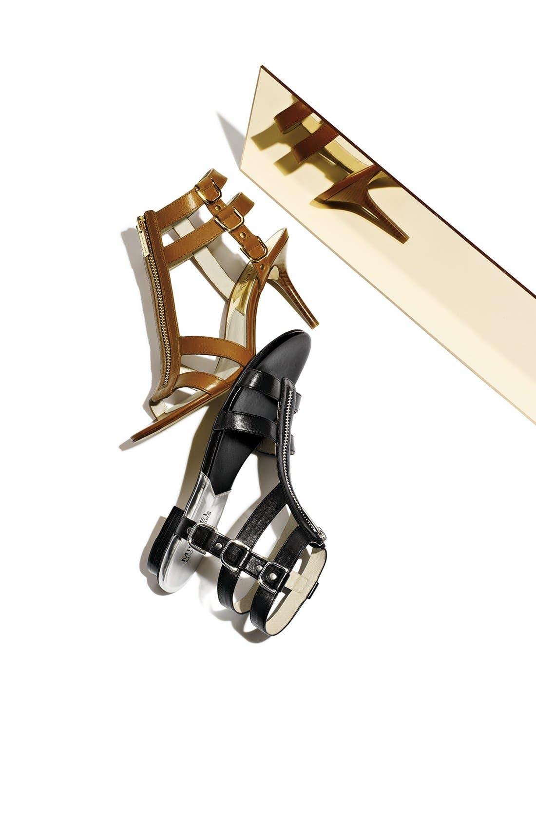 Alternate Image 5  - MICHAEL Michael Kors 'Kennedy' Flat Leather Gladiator Sandal
