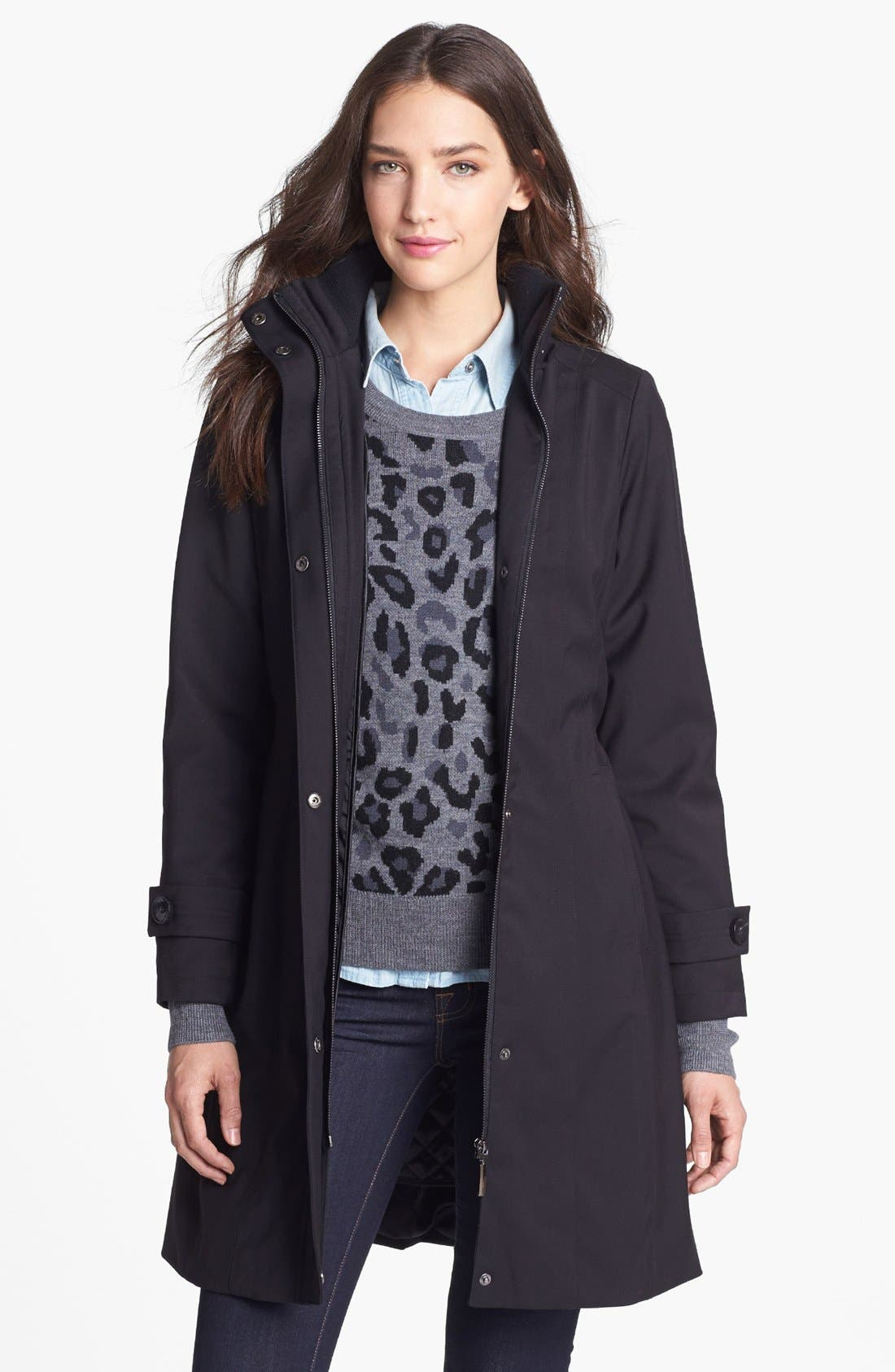 Alternate Image 4  - Kristen Blake Raincoat with Detachable Hood & Liner (Petite) (Nordstrom Exclusive)