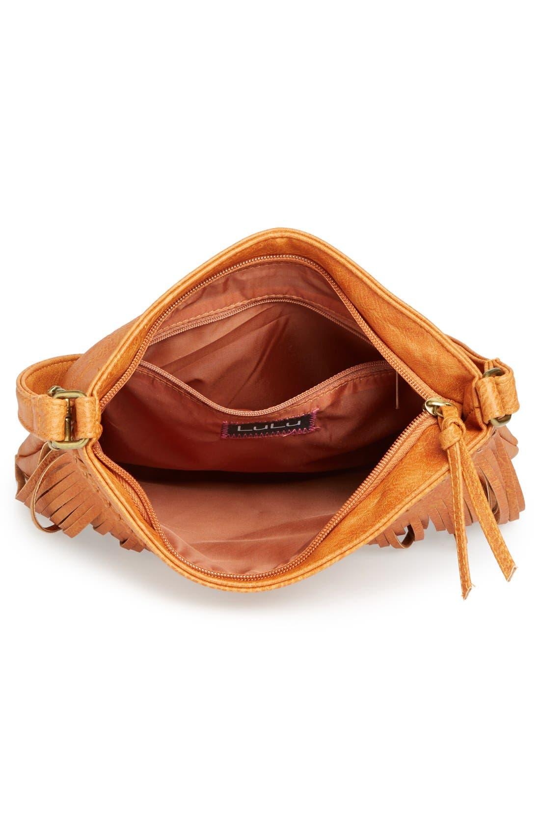 Alternate Image 3  - Lulu Fringe Small Convertible Crossbody Bag (Juniors)