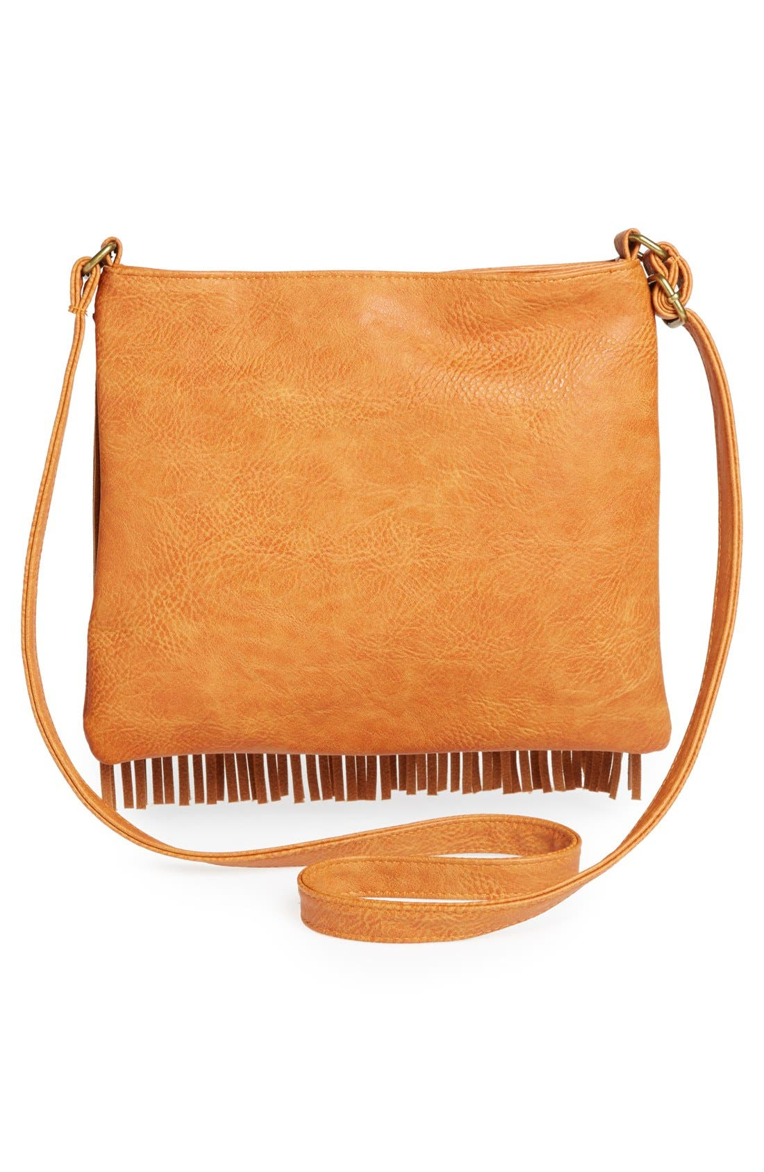 Alternate Image 4  - Lulu Fringe Small Convertible Crossbody Bag (Juniors)