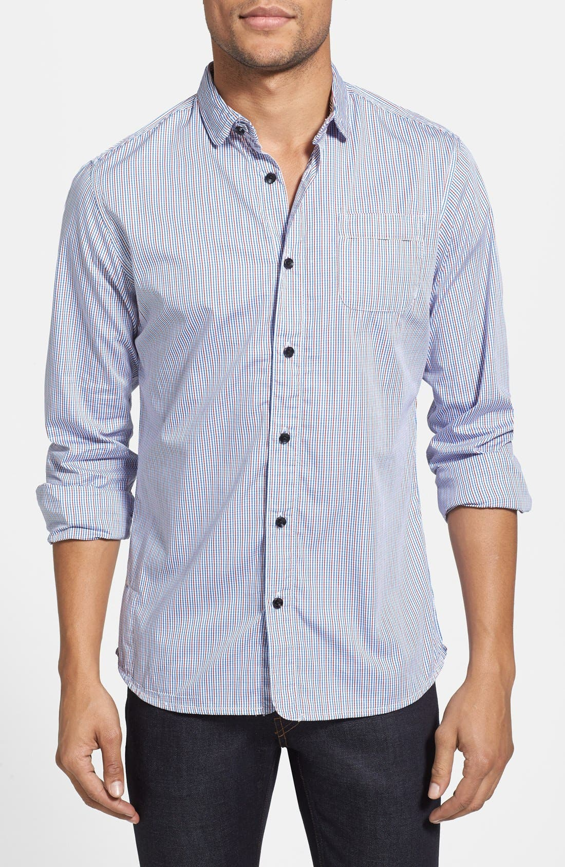 Alternate Image 1 Selected - Descendant of Thieves Slim Fit Multi Check Shirt