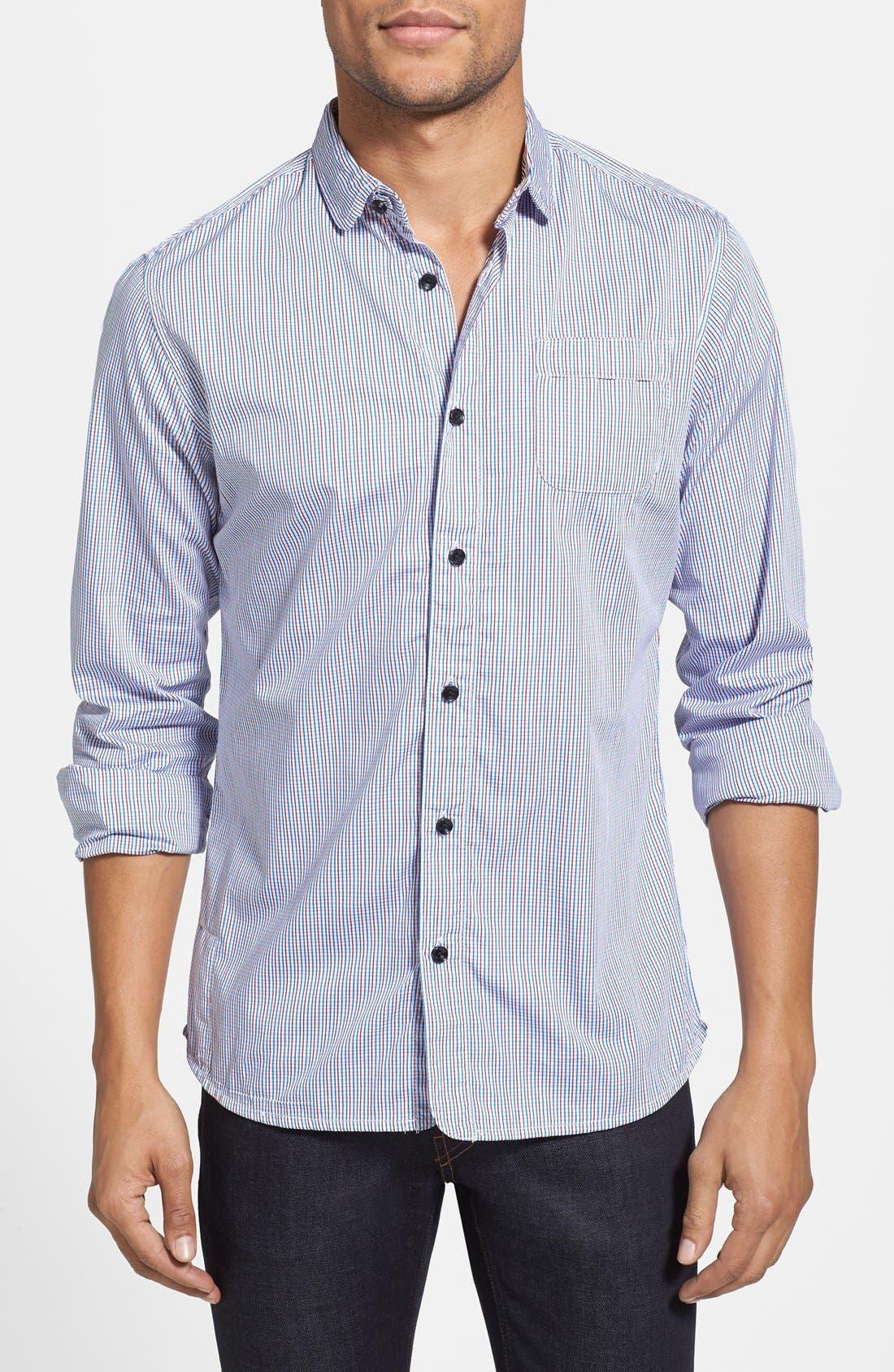 Main Image - Descendant of Thieves Slim Fit Multi Check Shirt