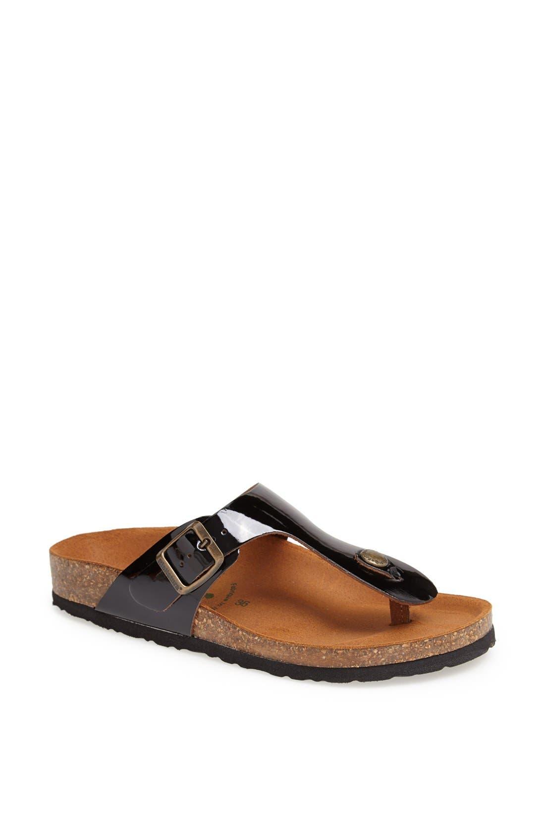 Alternate Image 1 Selected - BioNatura 'Finger' Thong Sandal