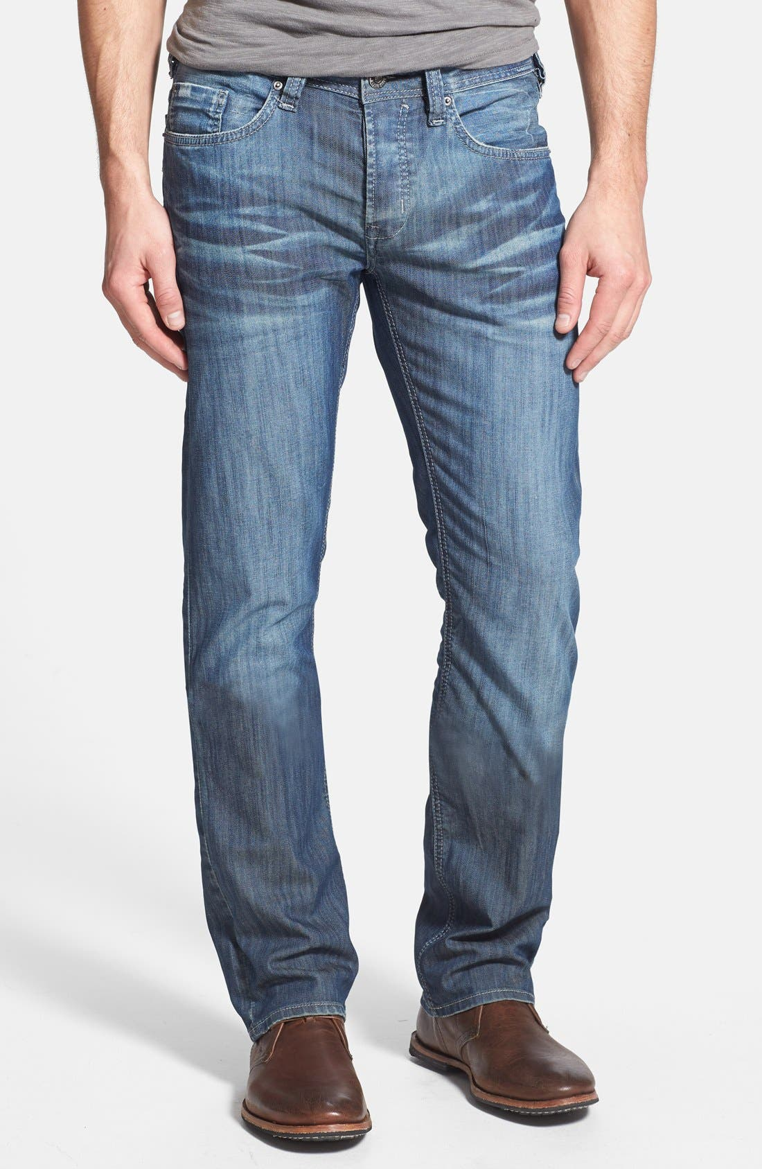 Alternate Image 1 Selected - Buffalo Jeans 'Evan' Slim Straight Leg Jeans (Distress)