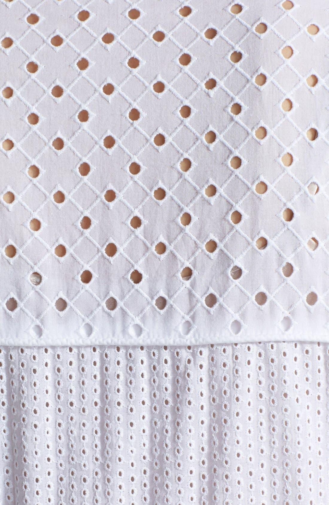 Alternate Image 3  - Rebecca Taylor Sleeveless Cotton Eyelet Shirtdress