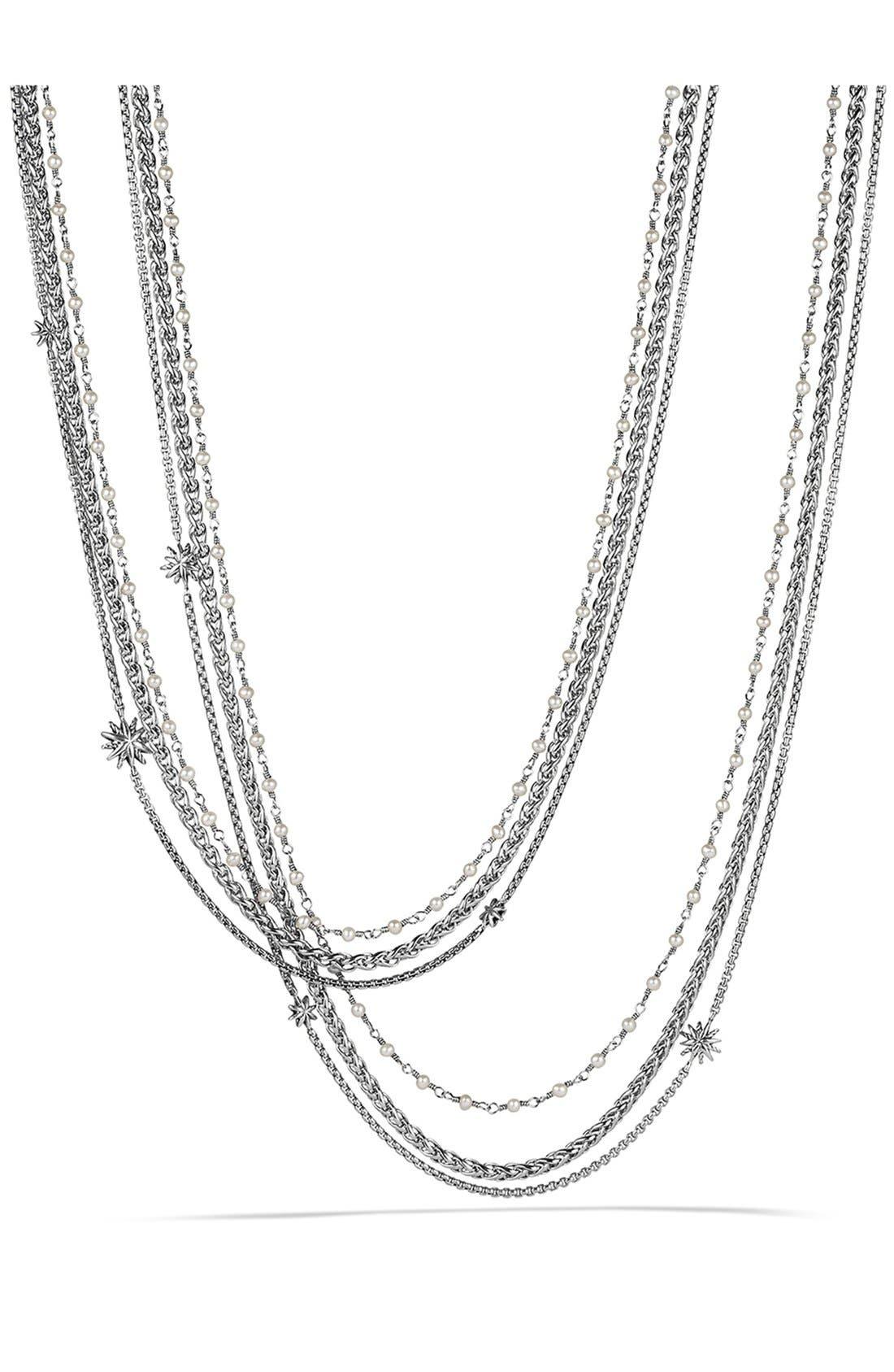 David Yurman 'Starburst' Chain Necklace with Pearls