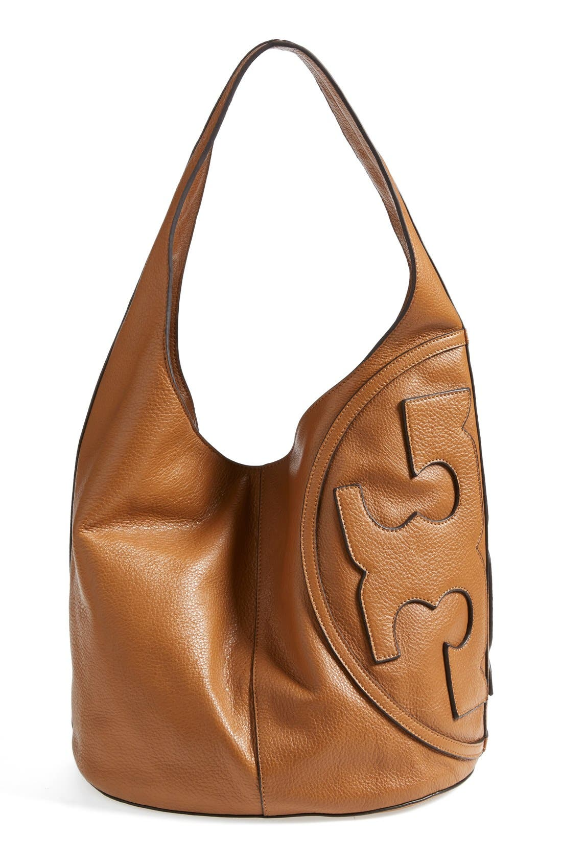 Alternate Image 4  - Tory Burch 'All T' Logo Leather Hobo