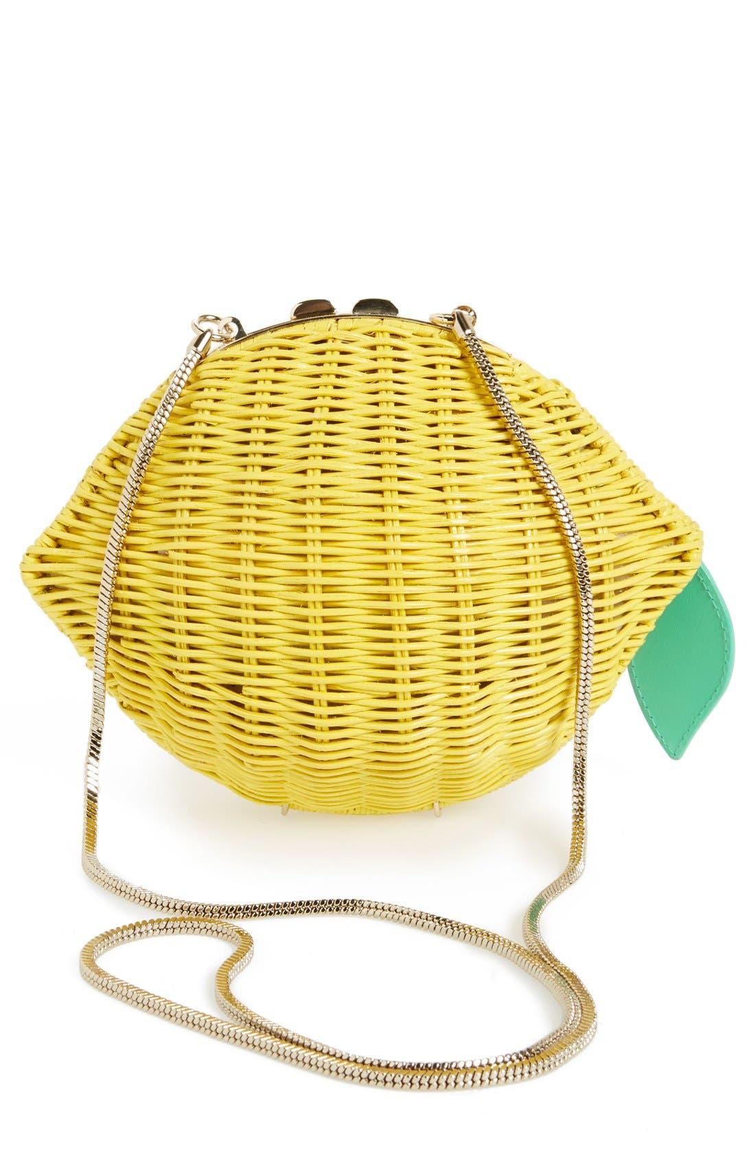Alternate Image 4  - kate spade new york 'vita riva' wicker lemon crossbody bag