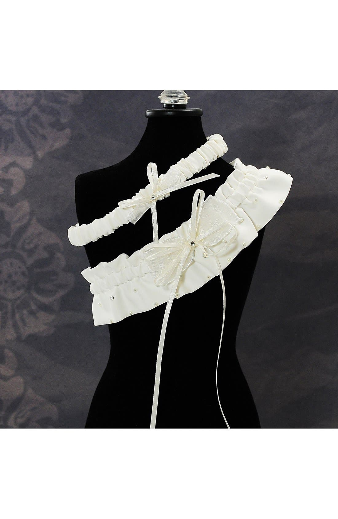 Alternate Image 2  - Cathy's Concepts 'Candlelight' Adjustable Wedding Garter