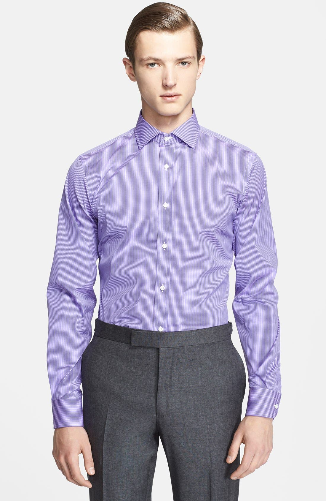 Alternate Image 1 Selected - Ralph Lauren Black Label Trim Fit Stripe Dress Shirt