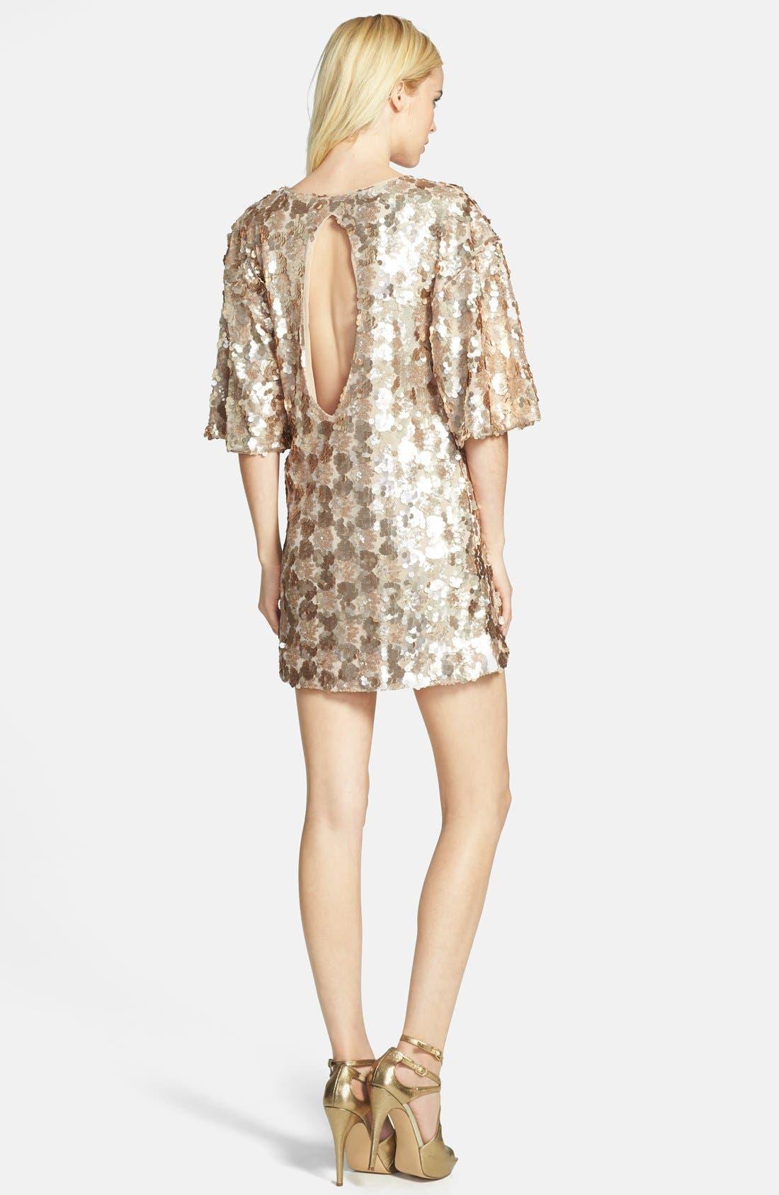 Alternate Image 2  - Dress the Population 'Brooklyn' Embellished Shift Dress