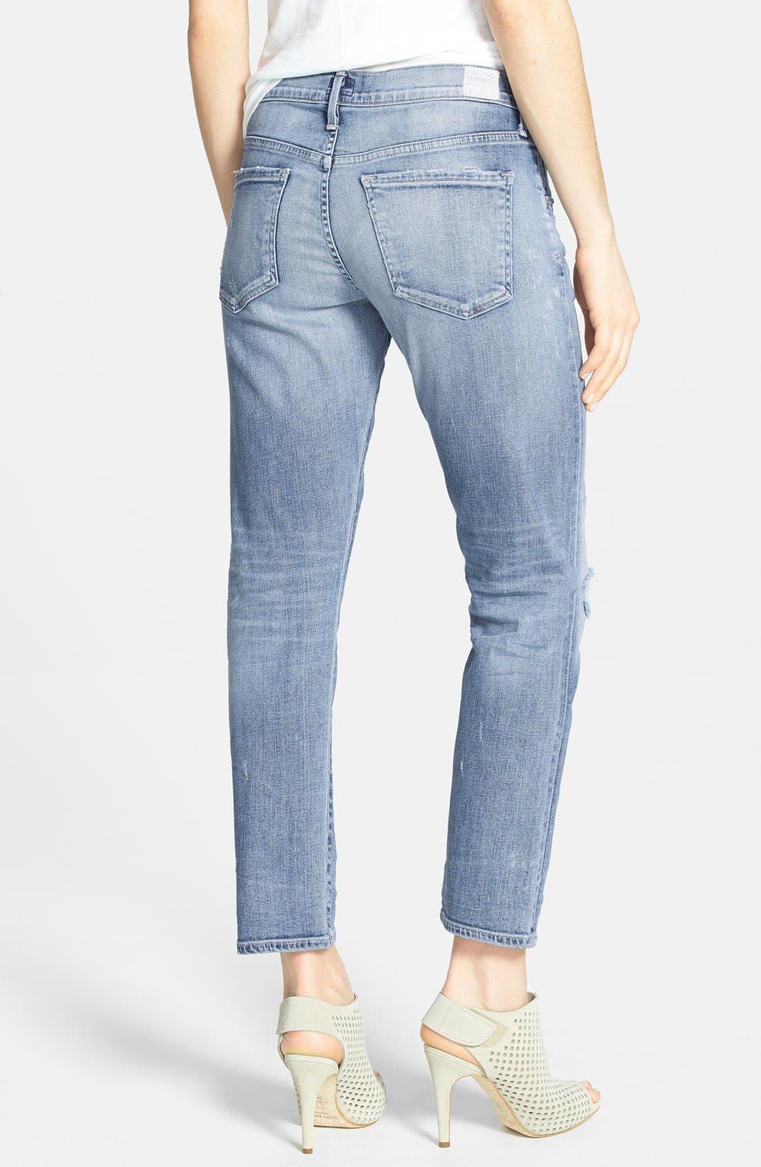Alternate Image 2  - Citizens of Humanity 'Premium Vintage - Emerson' Slim Boyfriend Crop Jeans (Crosby)