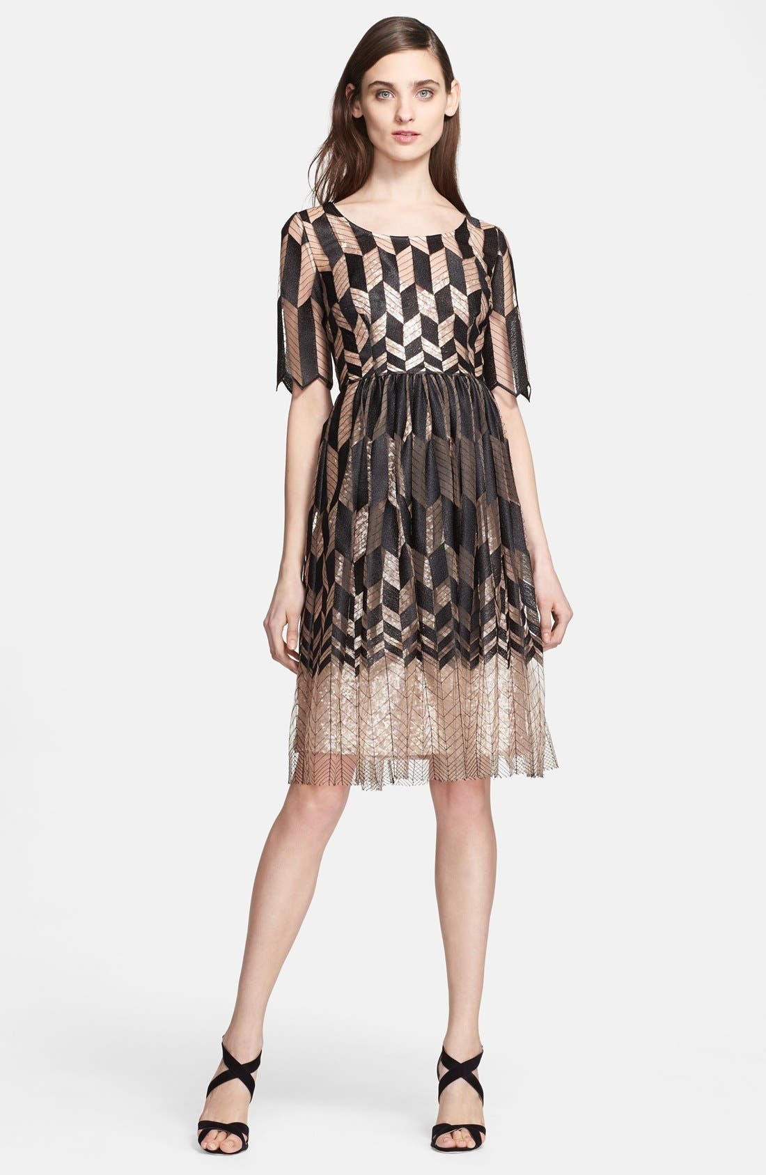 Alternate Image 1 Selected - Tracy Reese Zigzag Fit & Flare Dress