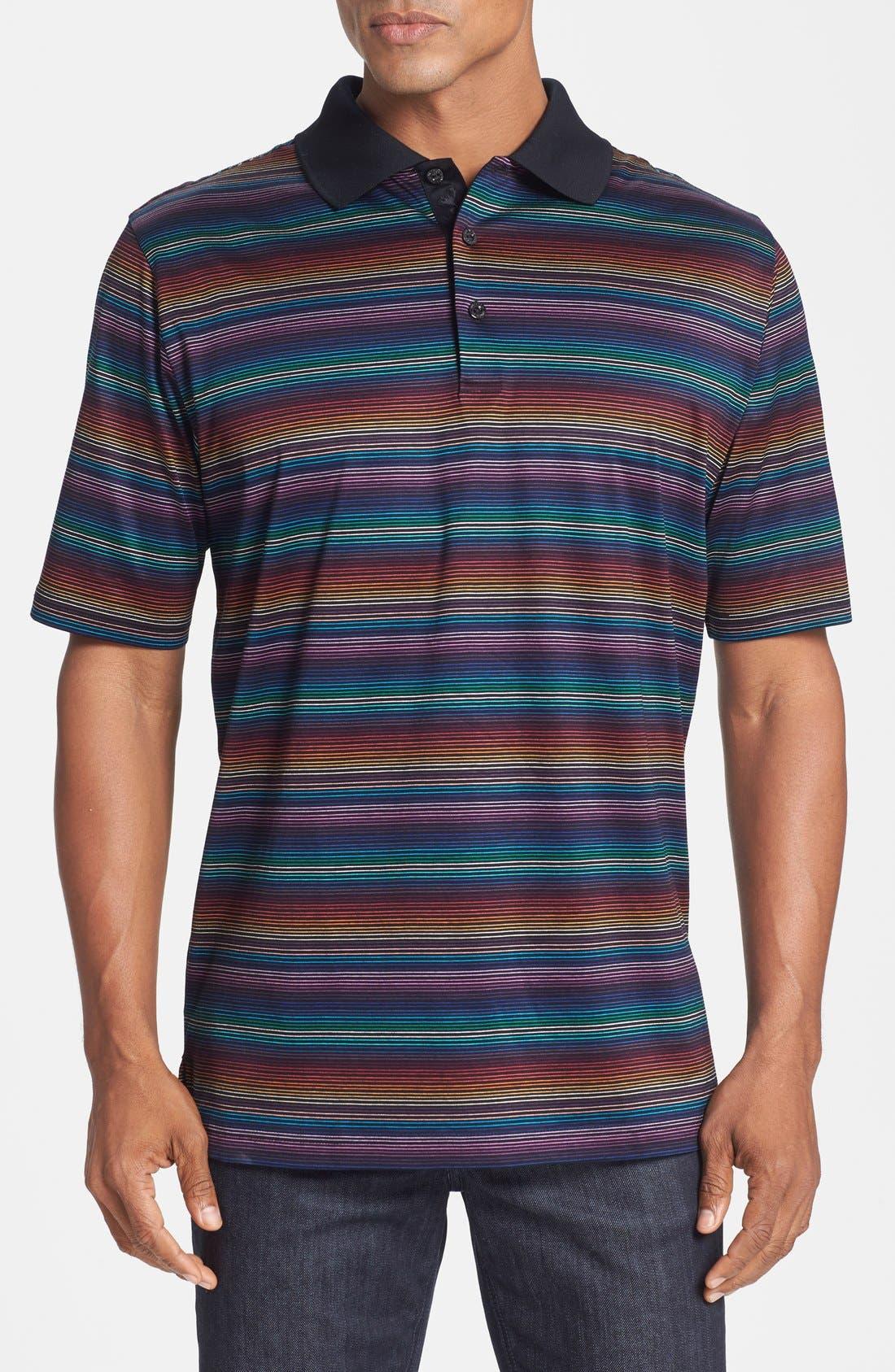 Alternate Image 1 Selected - Bugatchi Multicolor Stripe Polo