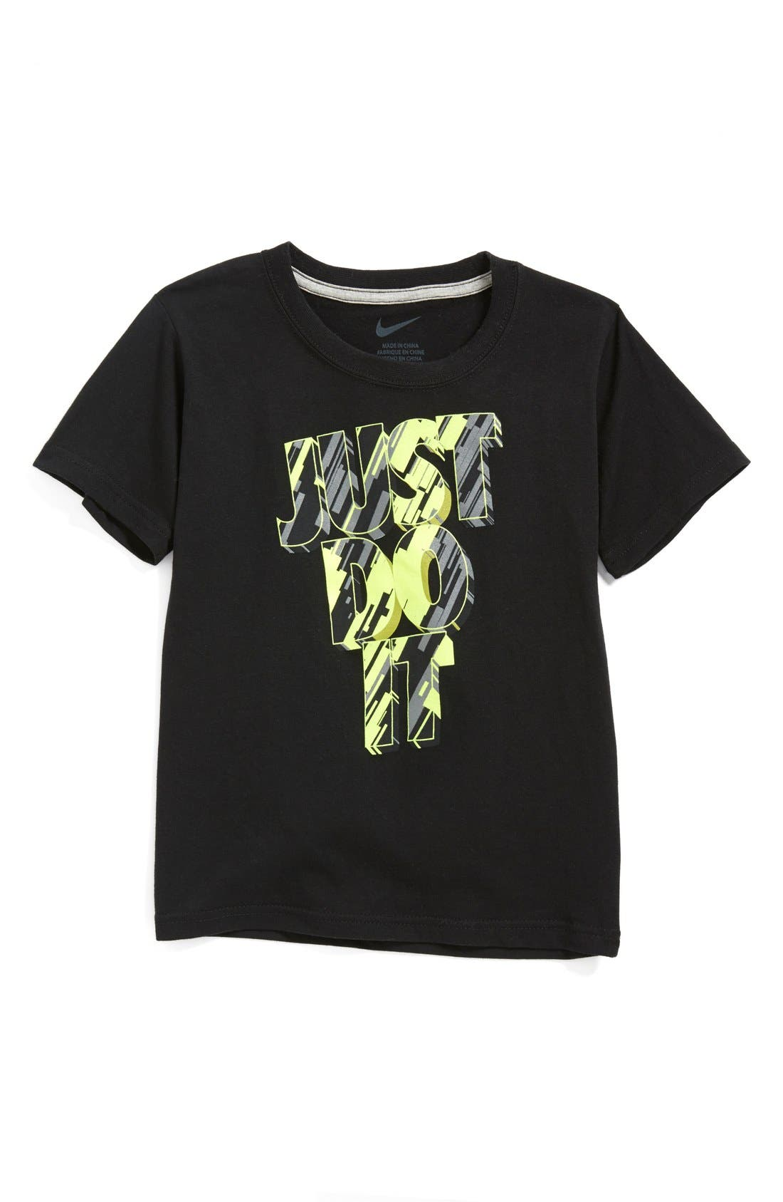 Alternate Image 1 Selected - Nike 'Just Do It' T-Shirt (Little Boys)