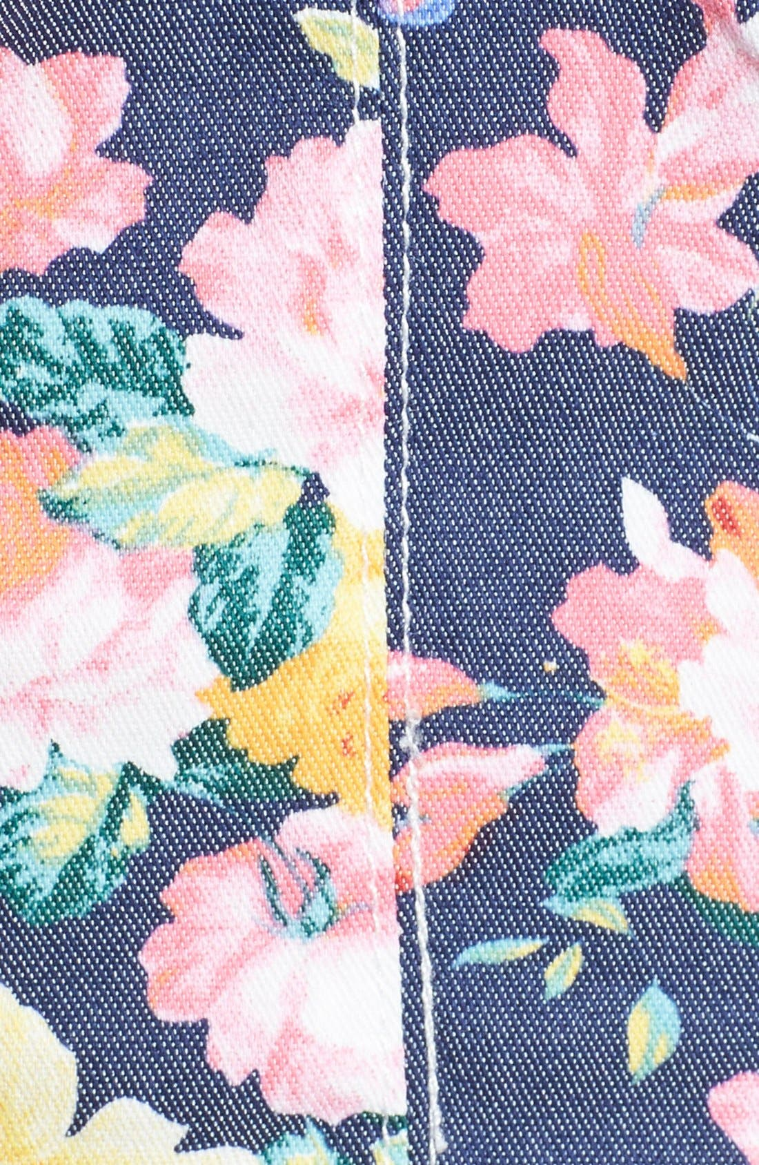 Alternate Image 3  - Rossmore Floral Denim Bustier Top (Juniors)