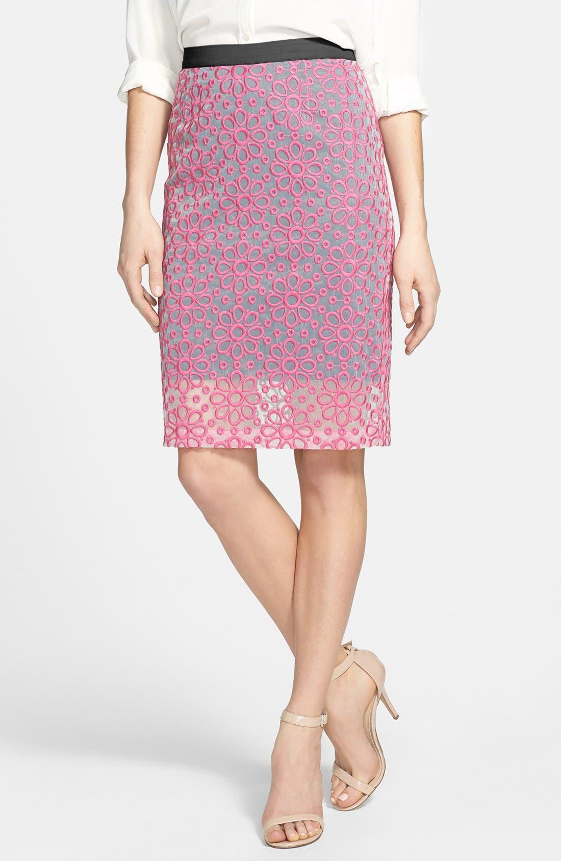 Main Image - Halogen® Daisy Organza Skirt