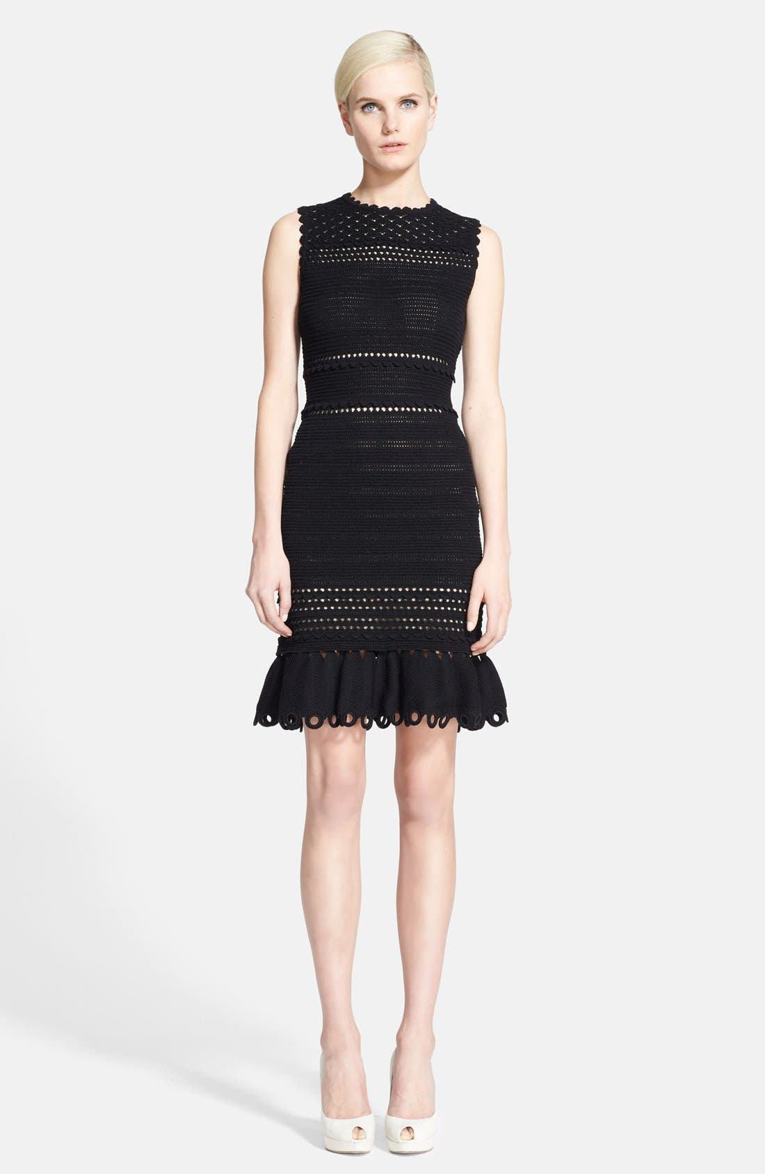 Alternate Image 1 Selected - Alexander McQueen Sleeveless Crochet Dress