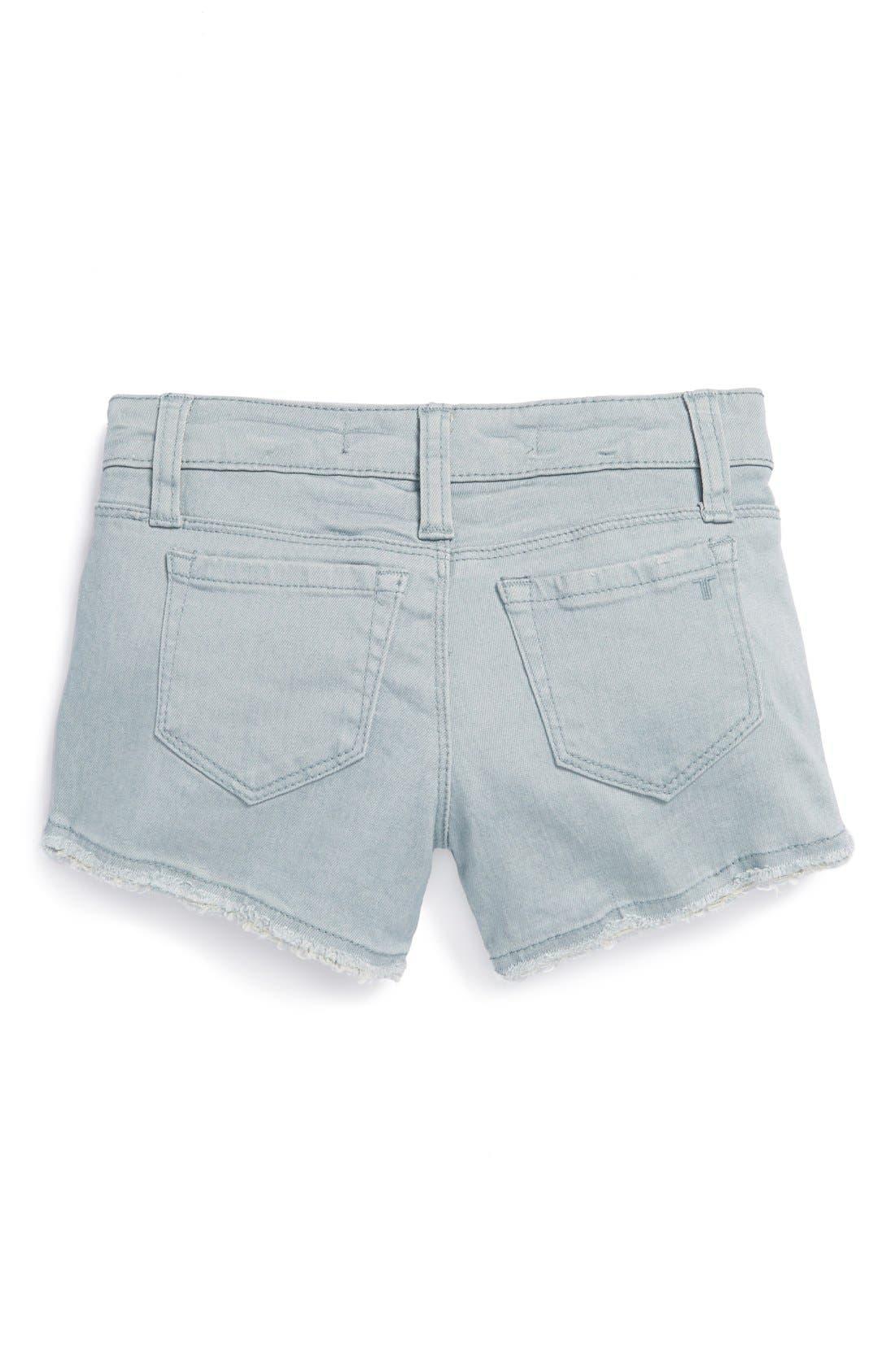 Main Image - Tractr Frayed Denim Shorts (Big Girls)