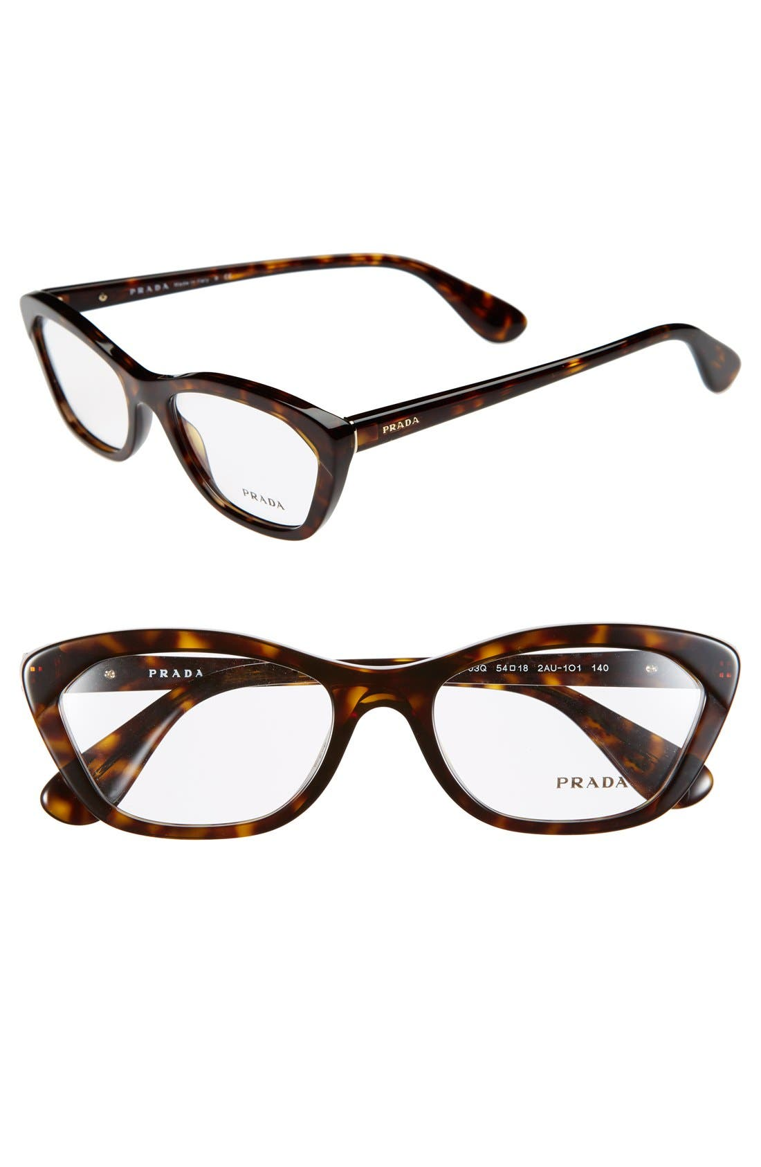 Alternate Image 1 Selected - Prada 54mm Cat Eye Optical Glasses (Online Only)