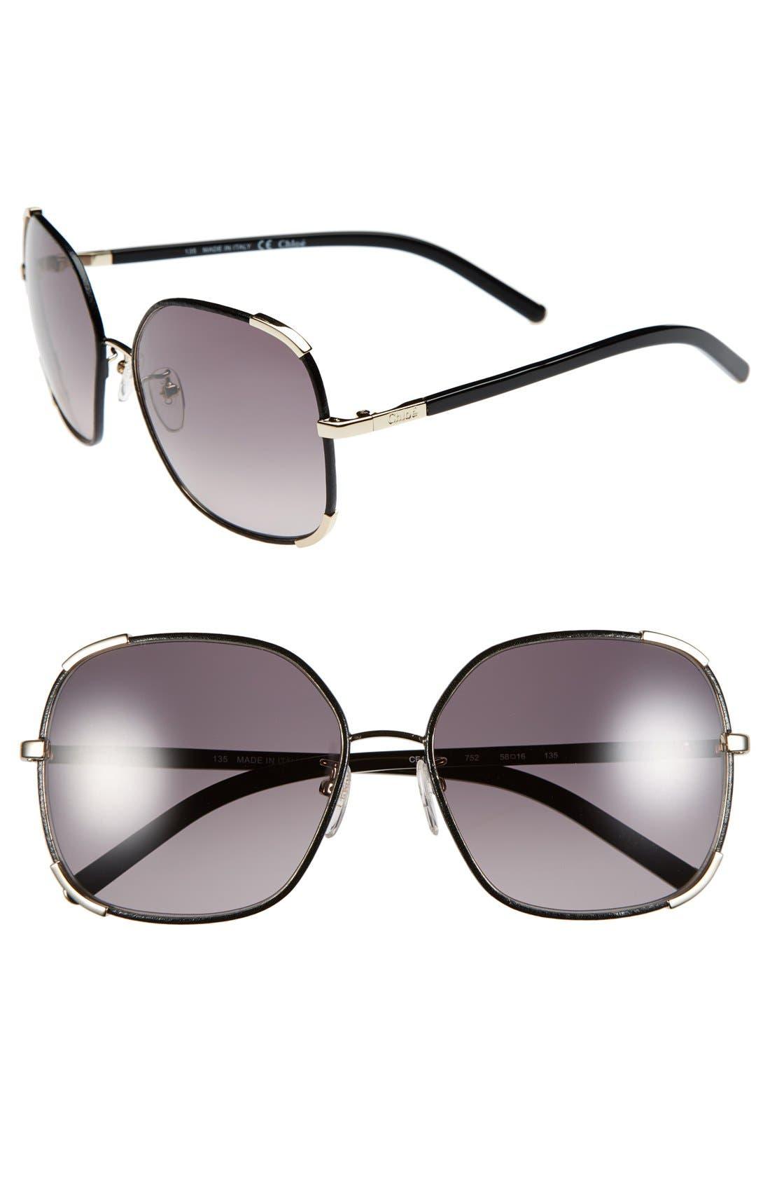 Main Image - Chloe 'Nerine' 58mm Sunglasses