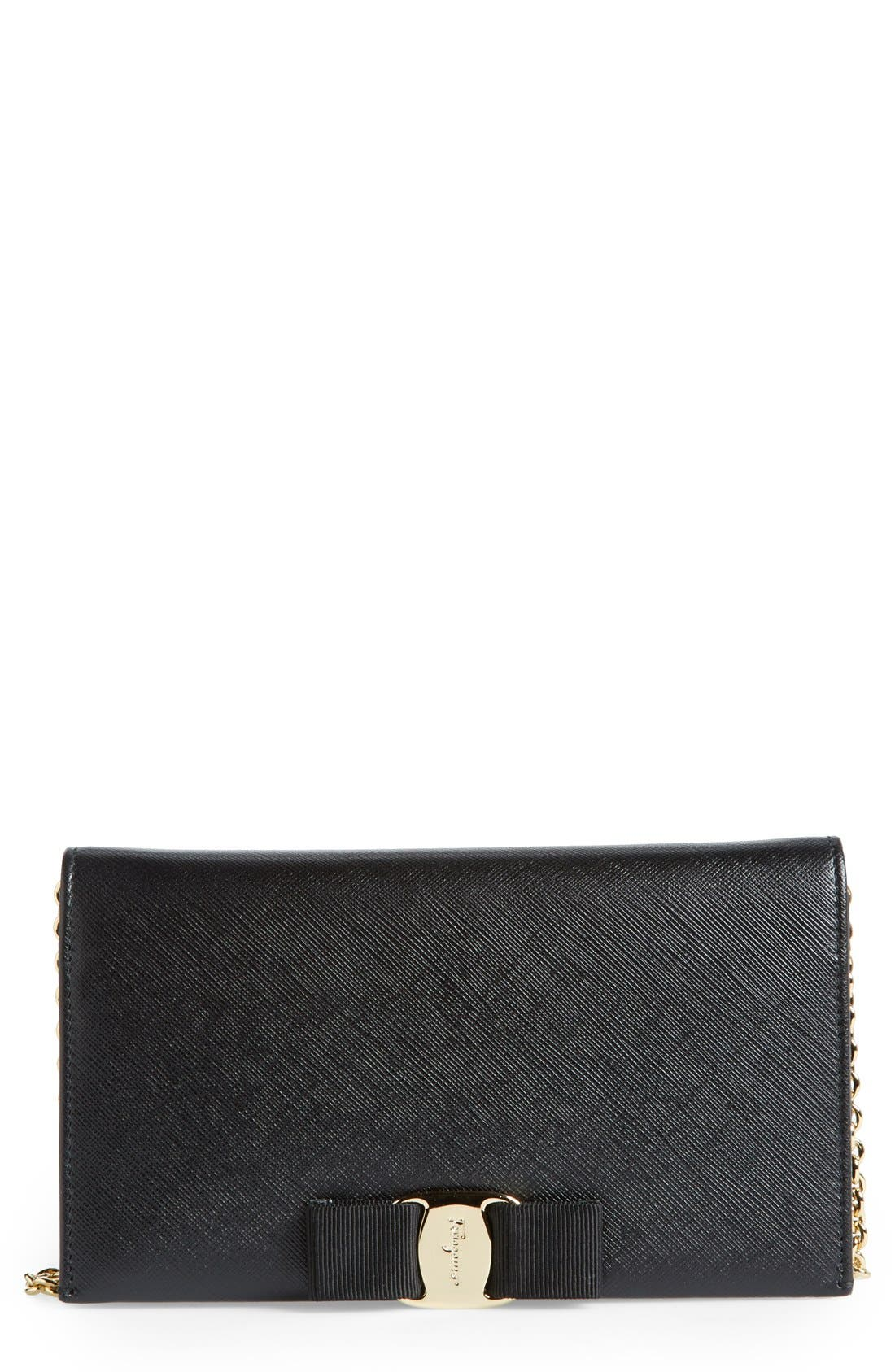 Salavatore Ferragamo 'Miss Vara' Leather Wallet on a Chain