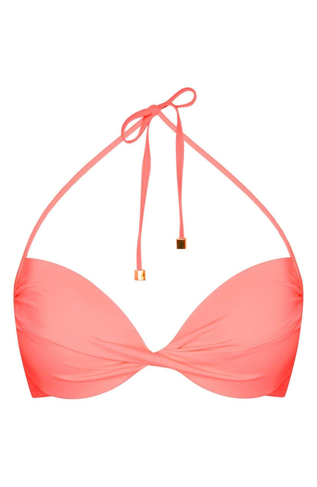 Alternate Image 1 Selected - Topshop Plunge Bikini Top