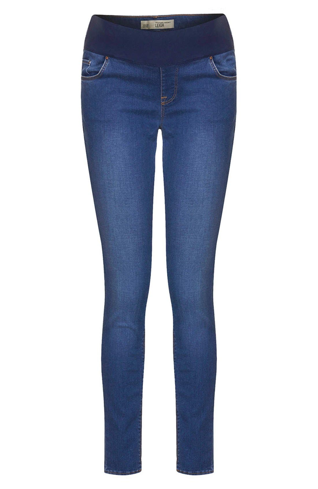 Alternate Image 3  - Topshop 'Leigh' Maternity Skinny Jeans (Regular and Short)
