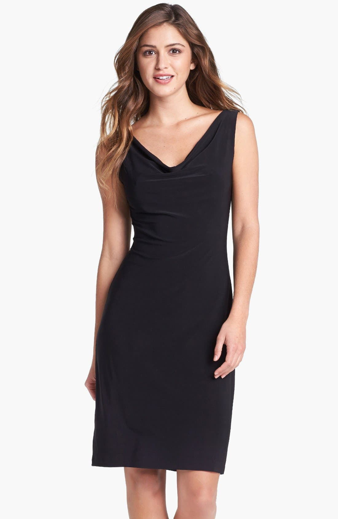 Alternate Image 1 Selected - KAMALIKULTURE 'Marie' Cowl Neck Sheath Dress