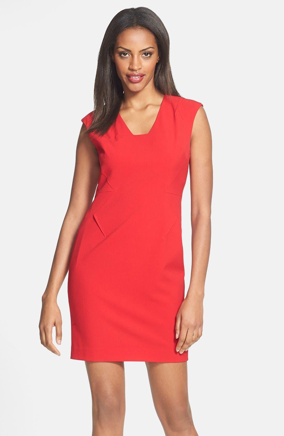Alternate Image 1 Selected - Calvin Klein Sheath Dress