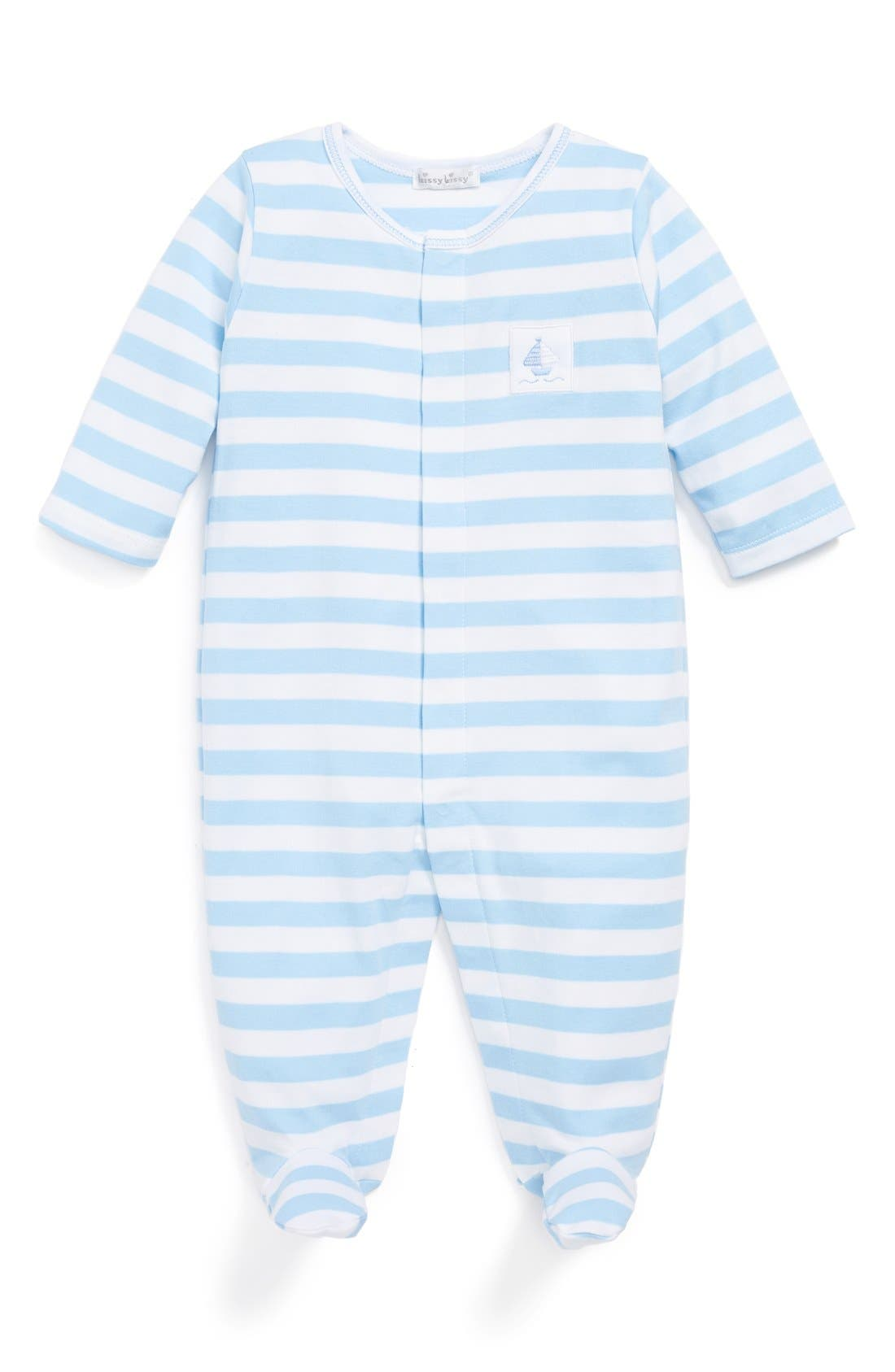 Alternate Image 1 Selected - Kissy Kissy 'Mainsail' Pima Cotton One-Piece (Baby Boys)