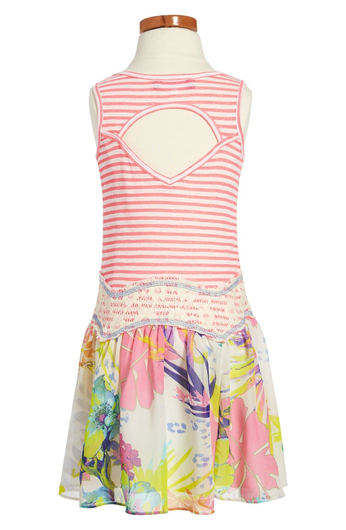 Alternate Image 2  - Truly Me Drop Waist Dress (Little Girls & Big Girls)