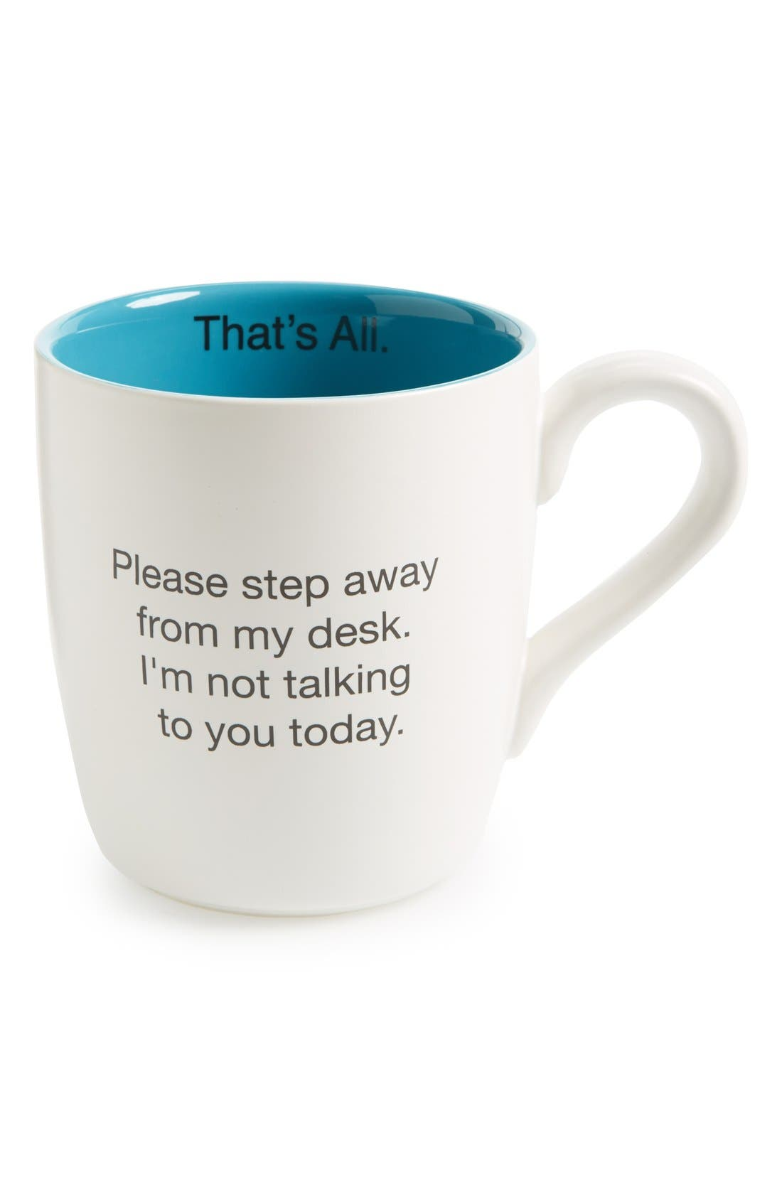 Alternate Image 1 Selected - Santa Barbara Design 'That's All - Please Step Away From My Desk' Mug