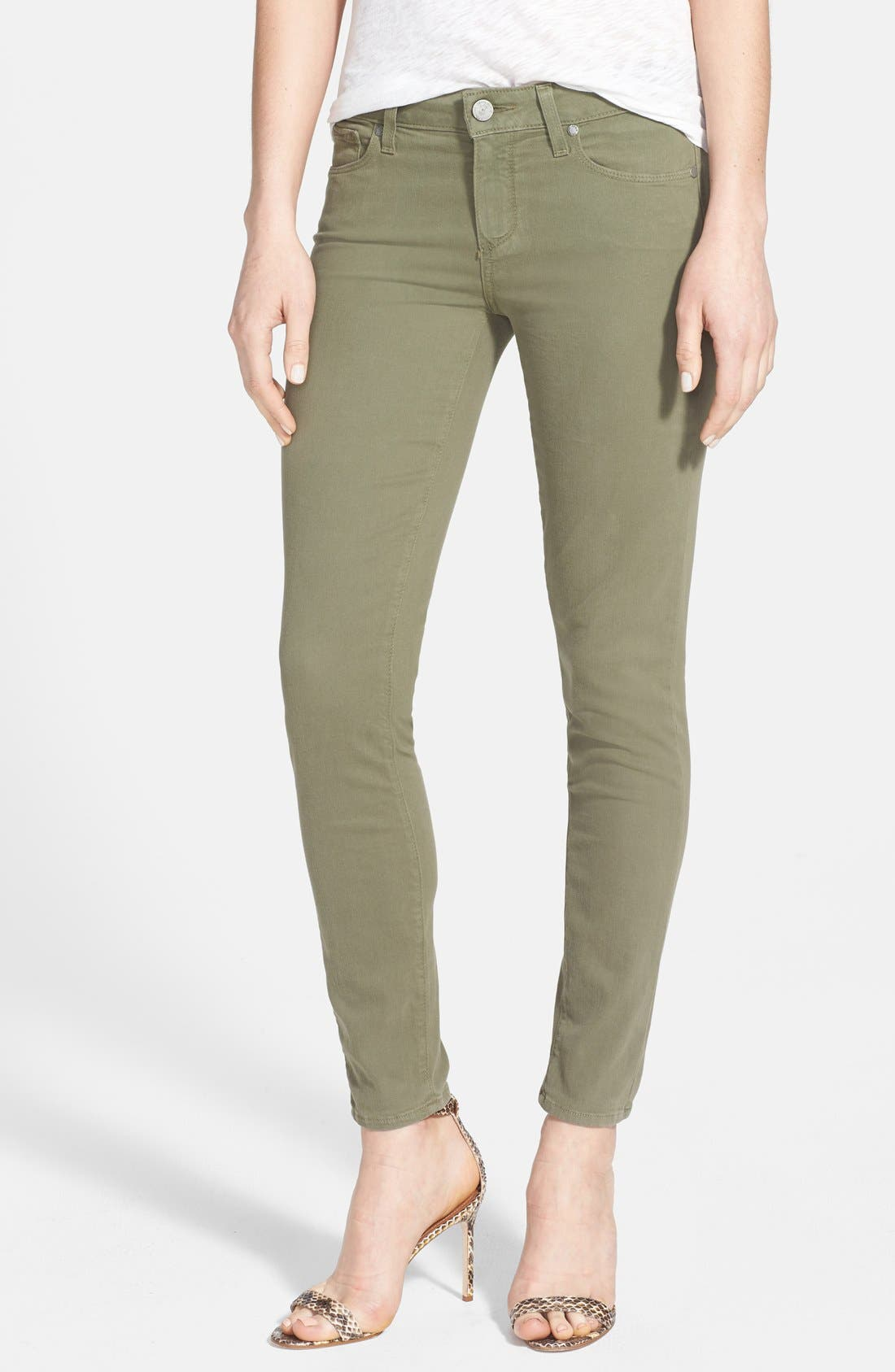 Alternate Image 1 Selected - Paige Denim 'Verdugo' Ankle Skinny Jeans (Fatigue Green)