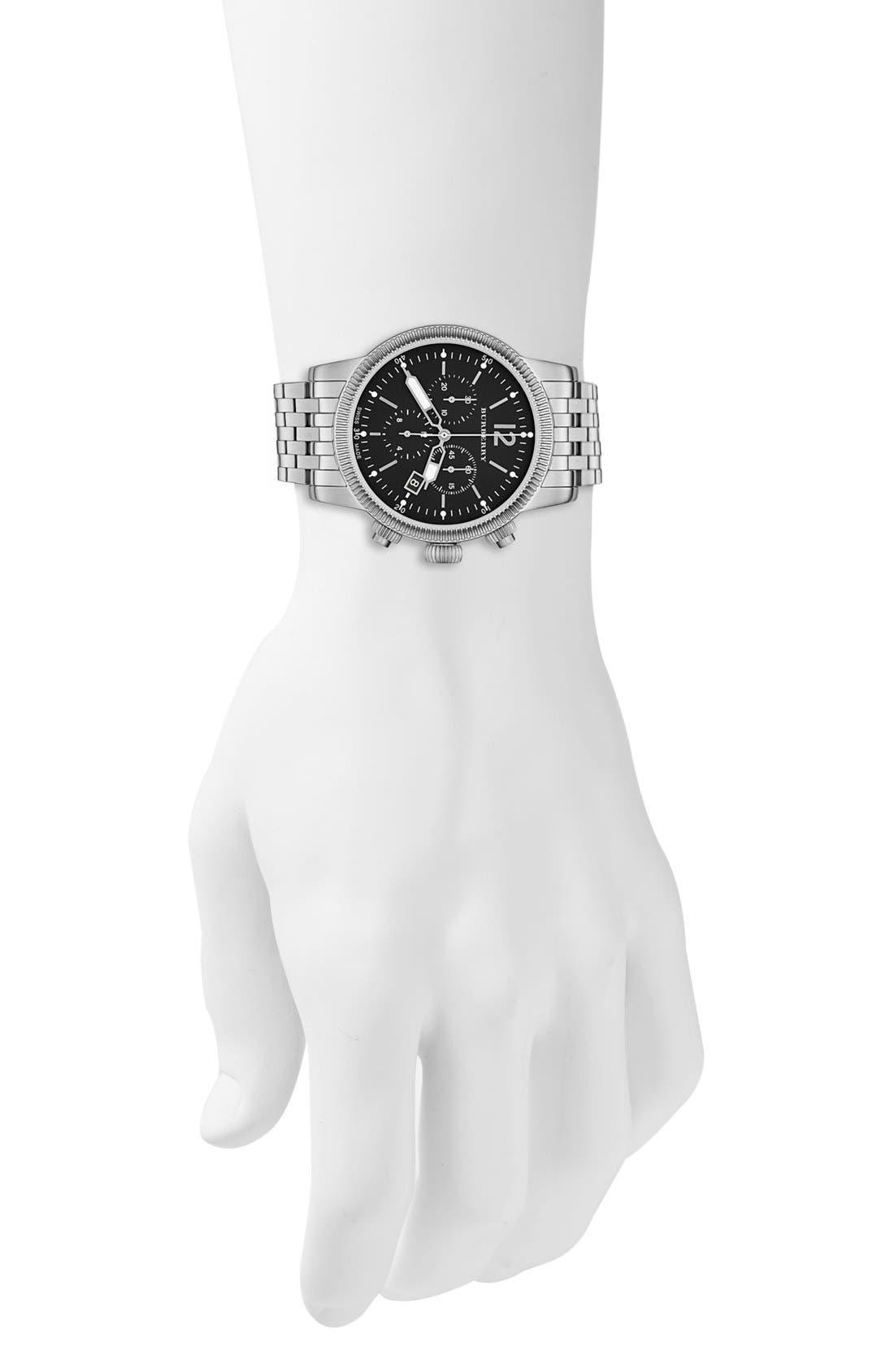 Alternate Image 5  - Burberry Round Chronograph Bracelet Watch, 42mm