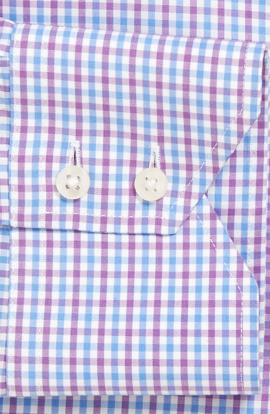Alternate Image 2  - Thomas Dean Regular Fit Non-Iron Check Dress Shirt