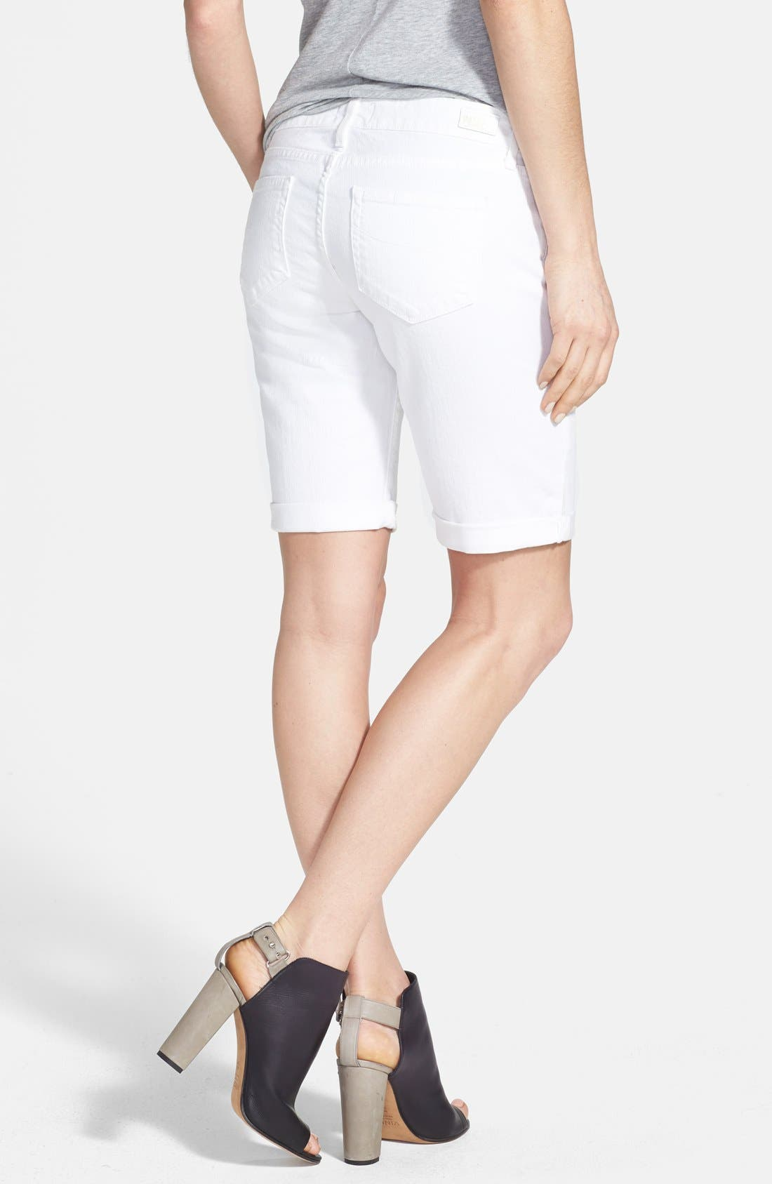 Alternate Image 2  - PAIGE 'Jax' Stretch Denim Bermuda Shorts (Optic White)