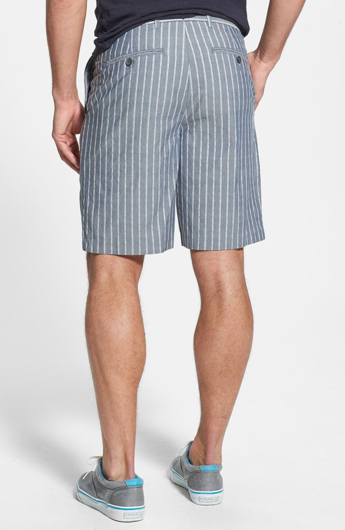 Alternate Image 2  - John W. Nordstrom® Flat Front Dobby Shorts