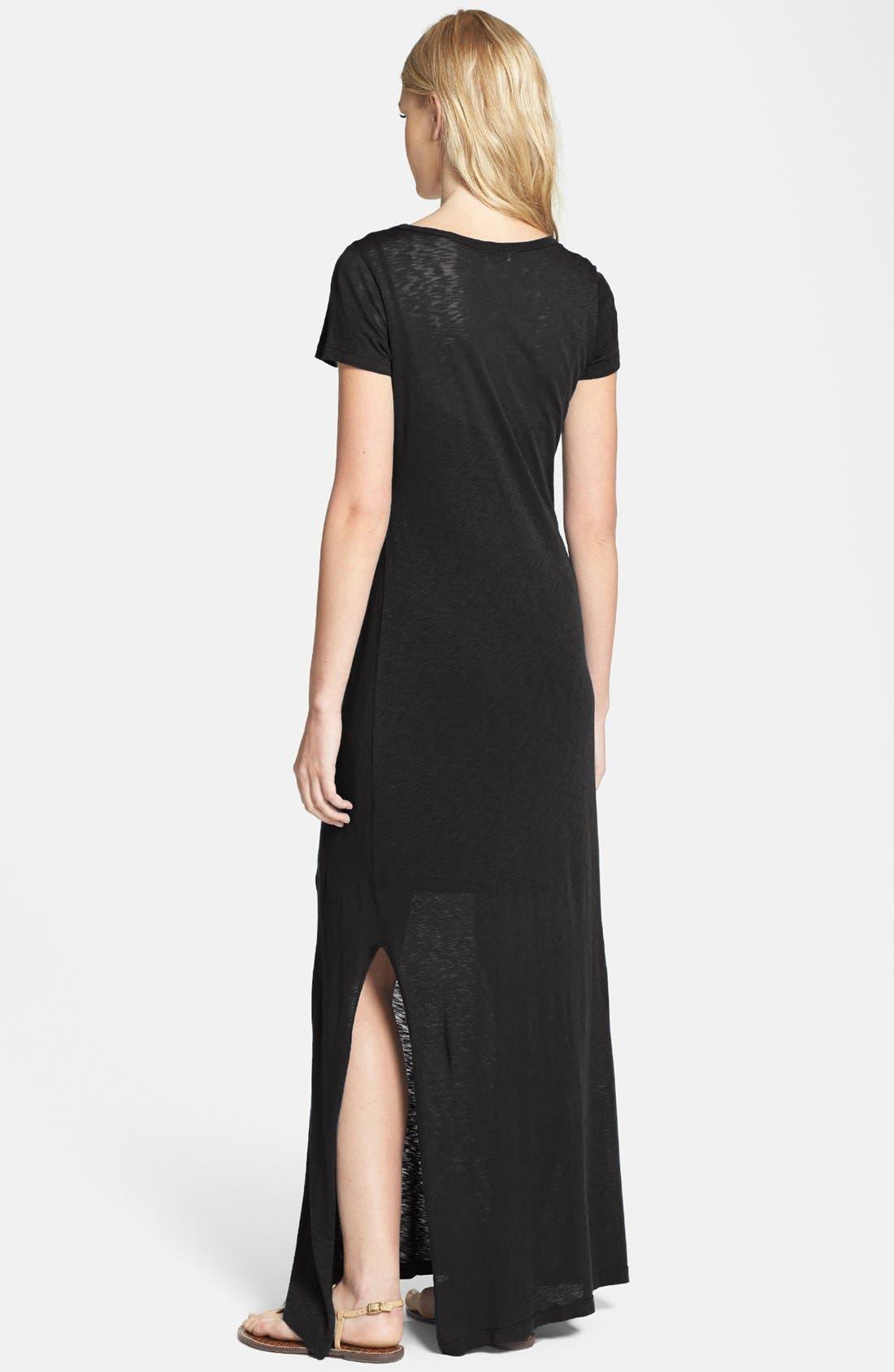 Alternate Image 2  - Splendid Slub Knit T-Shirt Maxi Dress